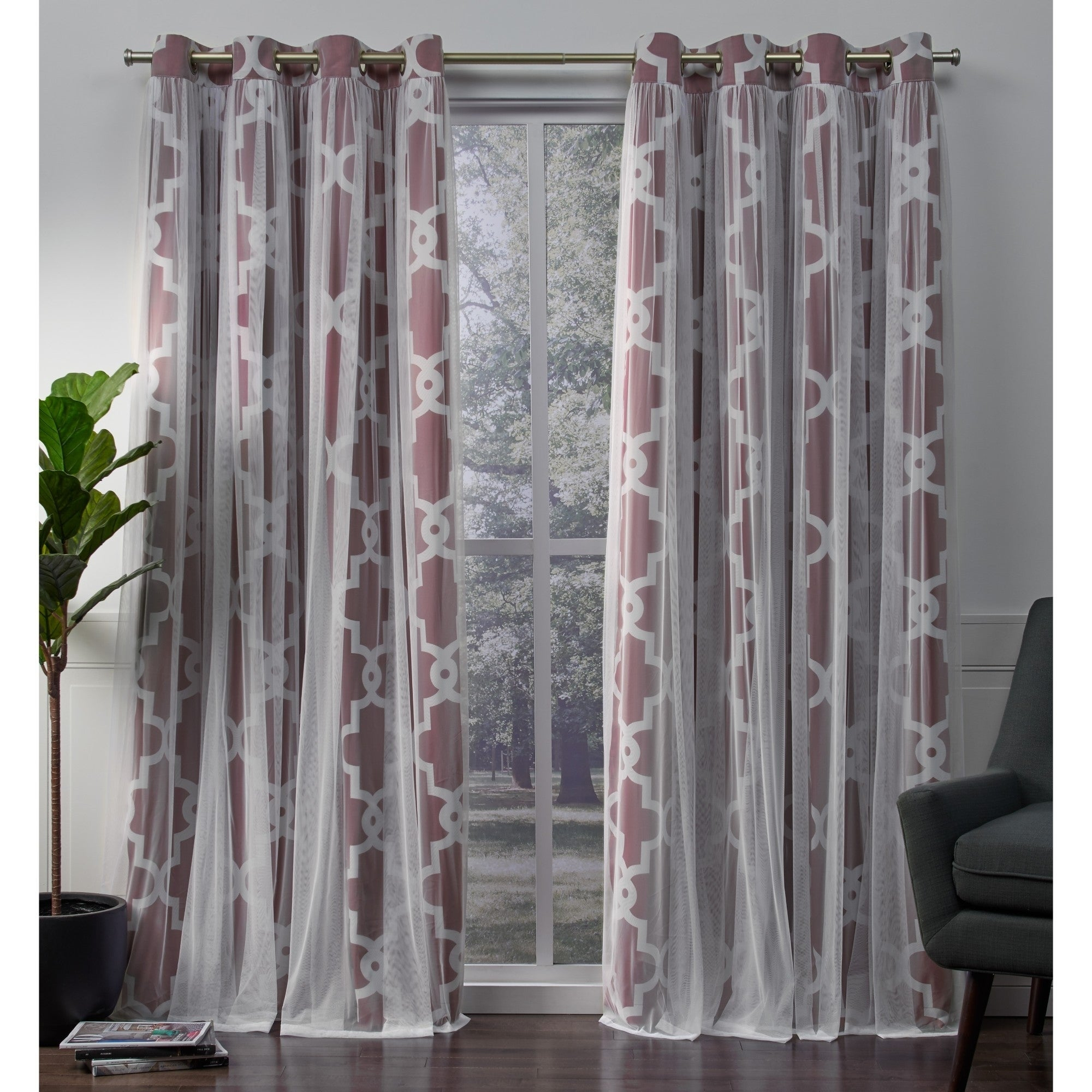 Ati Home Alegra Thermal Woven Blackout Grommet Top Curtain Panel Pair Regarding Thermal Woven Blackout Grommet Top Curtain Panel Pairs (View 13 of 30)