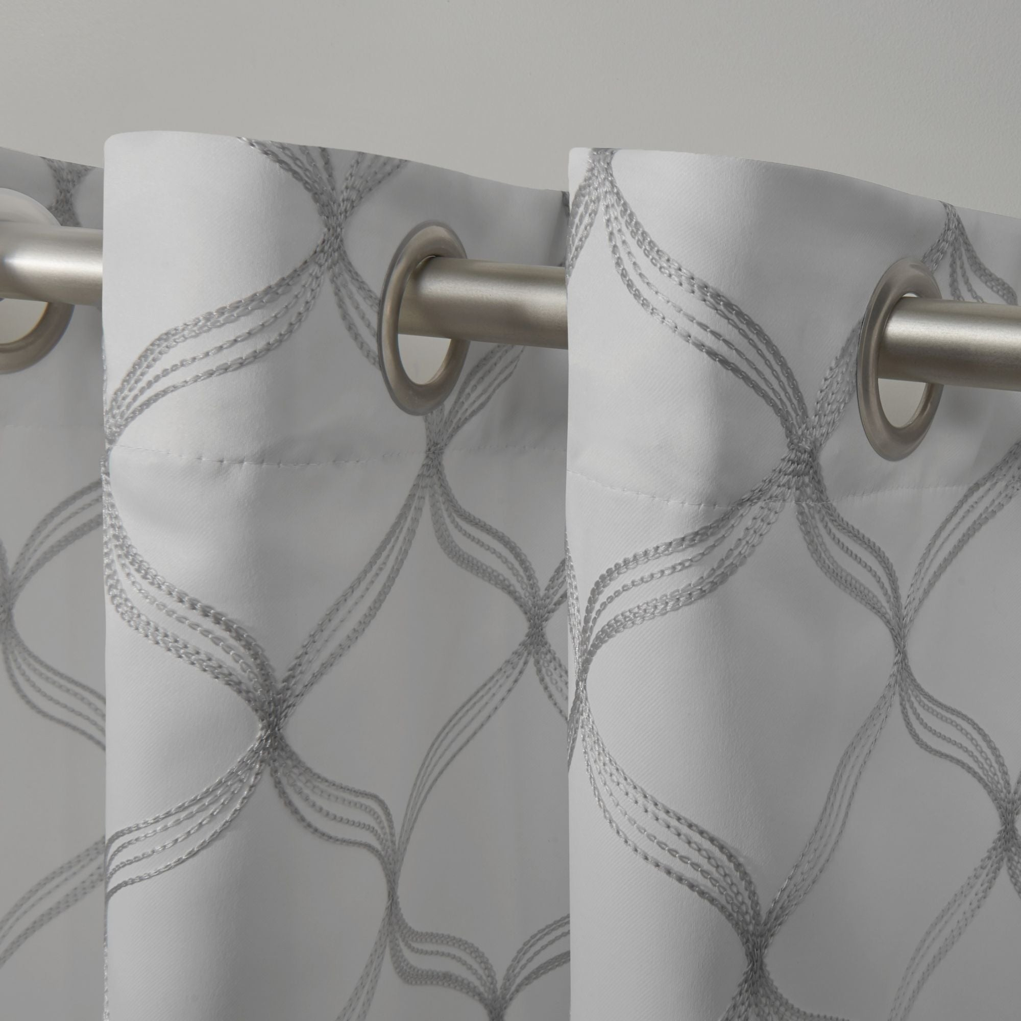 Ati Home Amelia Woven Blackout Grommet Top Curtain Panel Pair Inside Woven Blackout Grommet Top Curtain Panel Pairs (View 14 of 30)