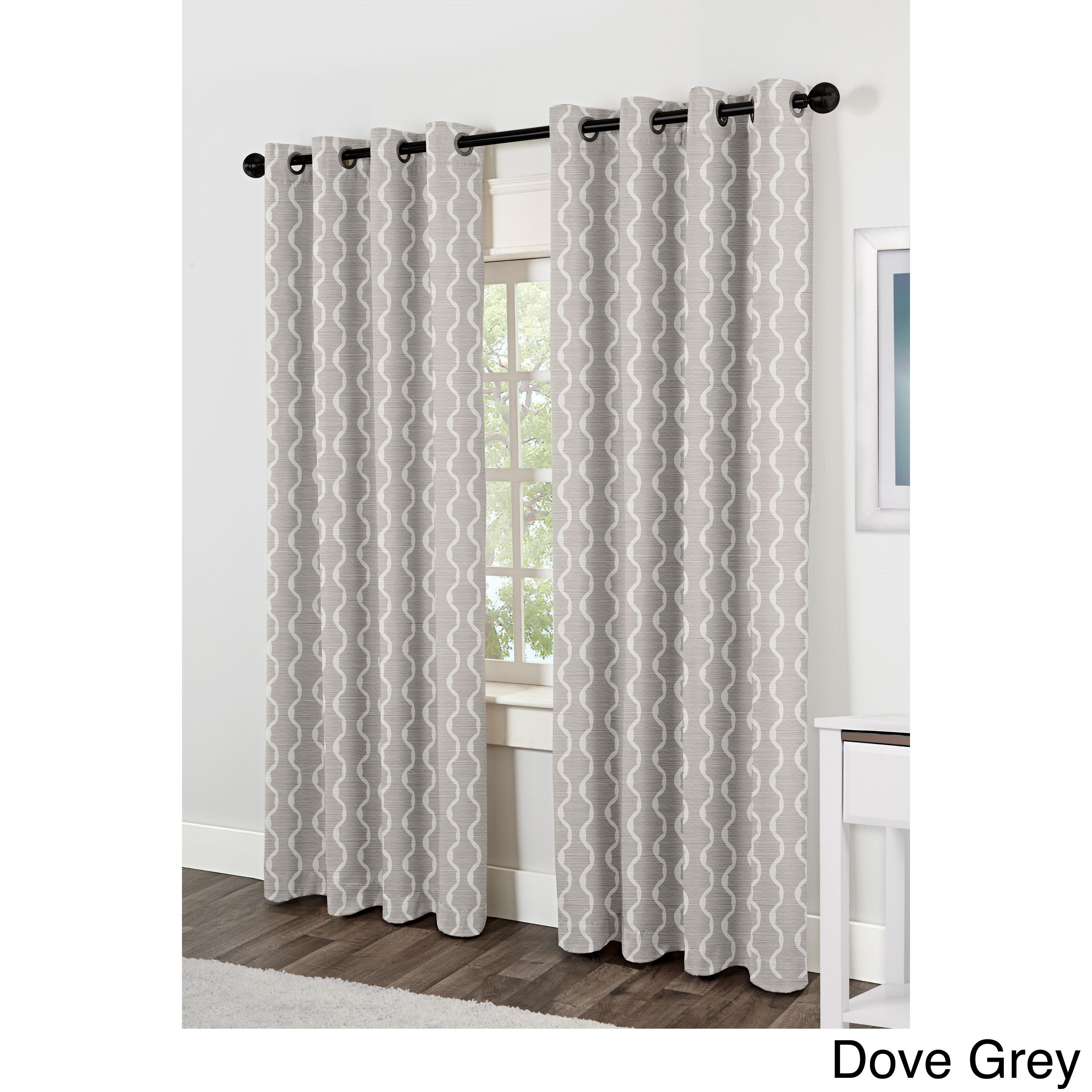 Ati Home Baroque Linen Grommet Top Curtain Panel Pair | Back With Baroque Linen Grommet Top Curtain Panel Pairs (View 4 of 20)