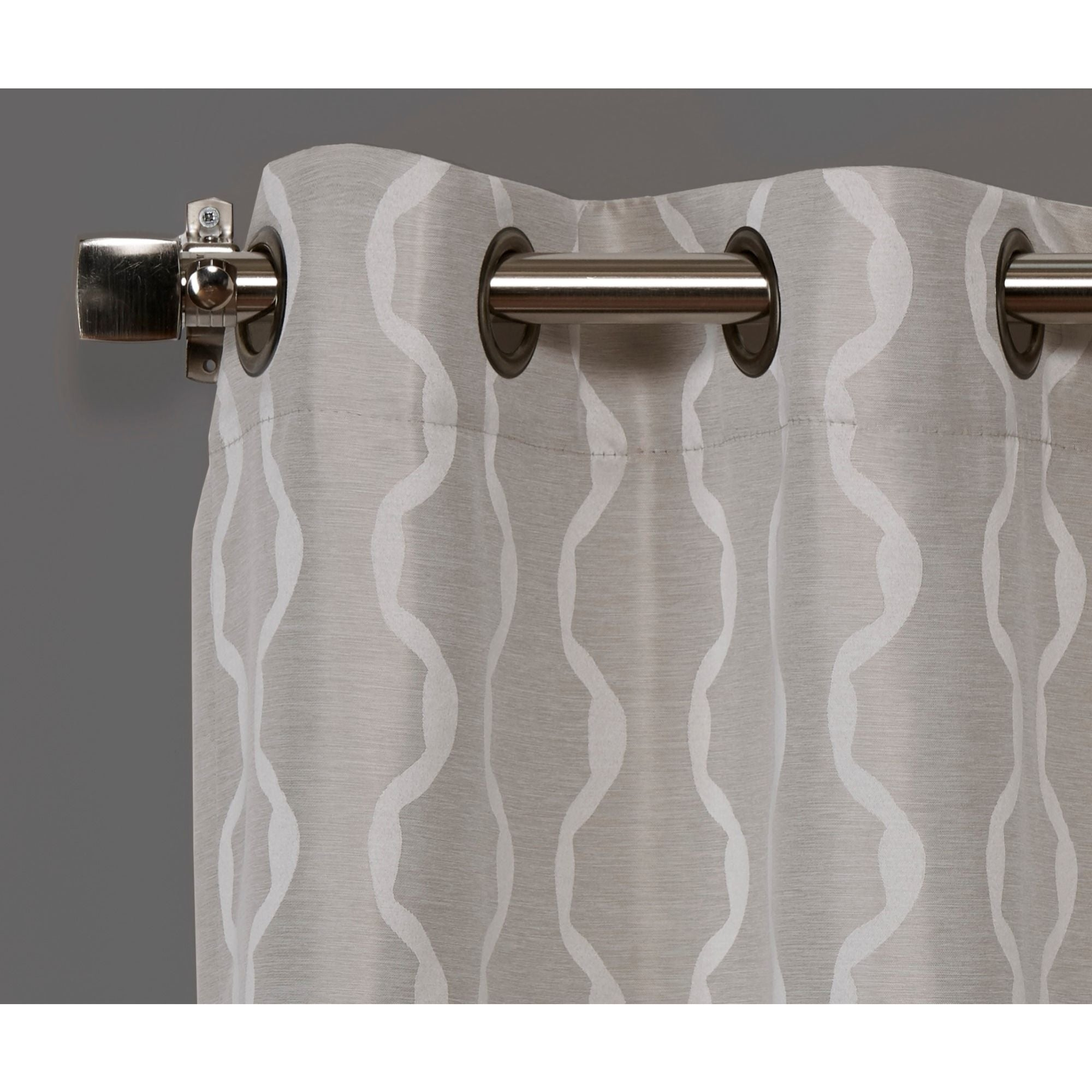 Ati Home Baroque Linen Grommet Top Curtain Panel Pair Inside Baroque Linen Grommet Top Curtain Panel Pairs (View 20 of 20)