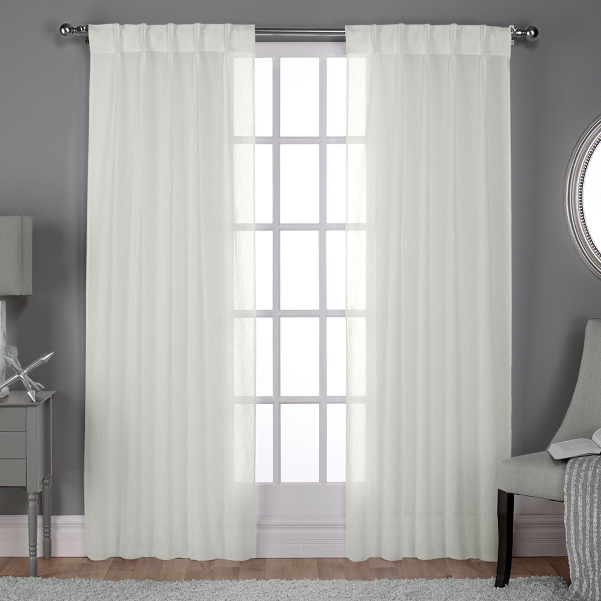 Featured Photo of Double Pinch Pleat Top Curtain Panel Pairs