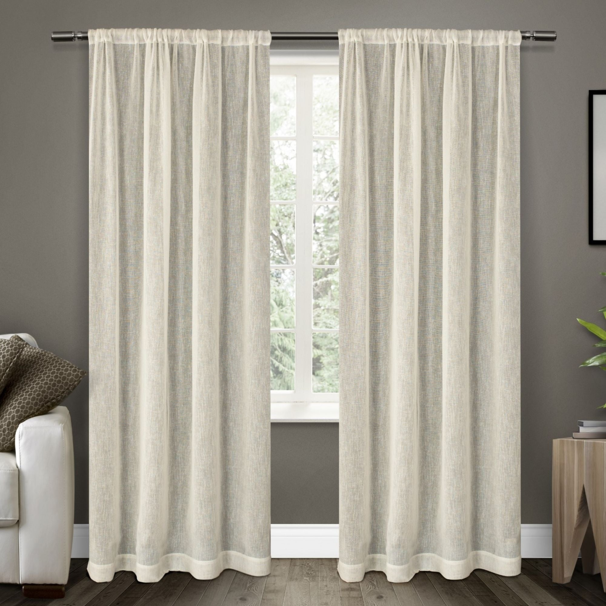 Featured Photo of Belgian Sheer Window Curtain Panel Pairs With Rod Pocket