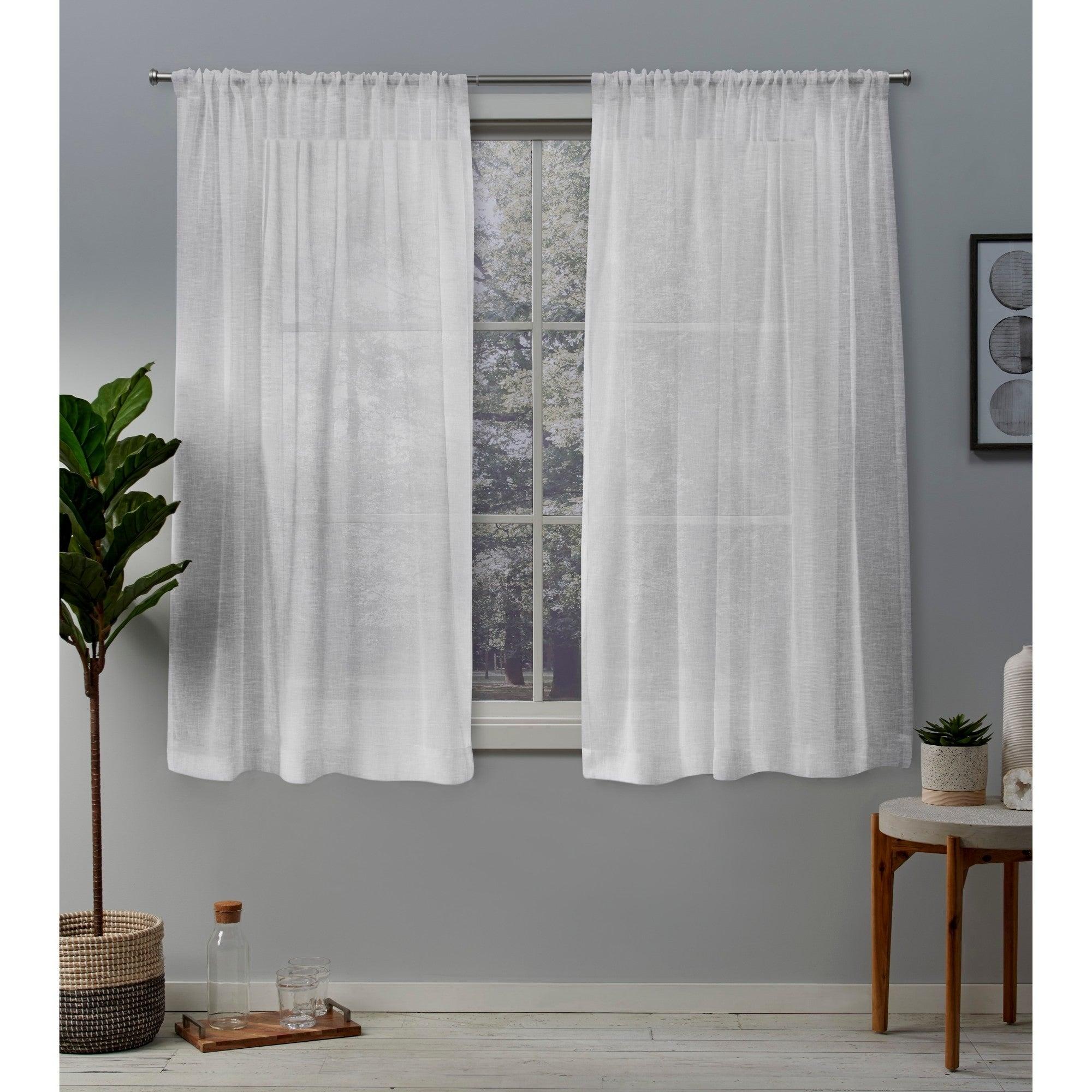 Ati Home Belgian Sheer Window Curtain Panel Pair With Rod Pocket Regarding Belgian Sheer Window Curtain Panel Pairs With Rod Pocket (View 5 of 20)