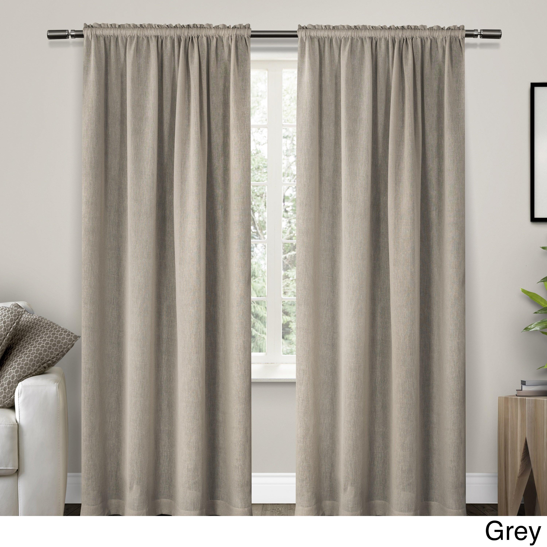 Ati Home Belgian Sheer Window Curtain Panel Pair With Rod Pocket Within Belgian Sheer Window Curtain Panel Pairs With Rod Pocket (View 3 of 20)