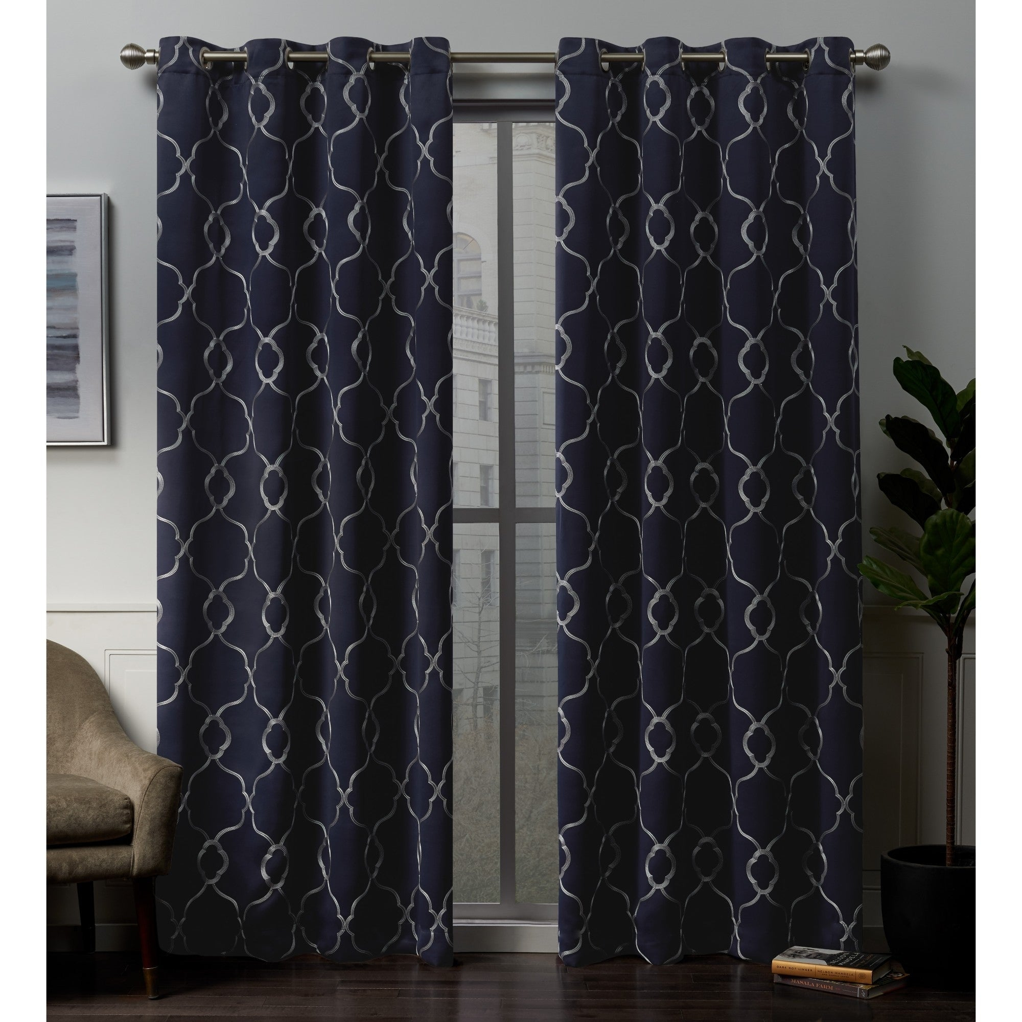 Ati Home Belmont Woven Blackout Grommet Top Curtain Panel Pair Inside Sateen Woven Blackout Curtain Panel Pairs With Pinch Pleat Top (View 3 of 20)
