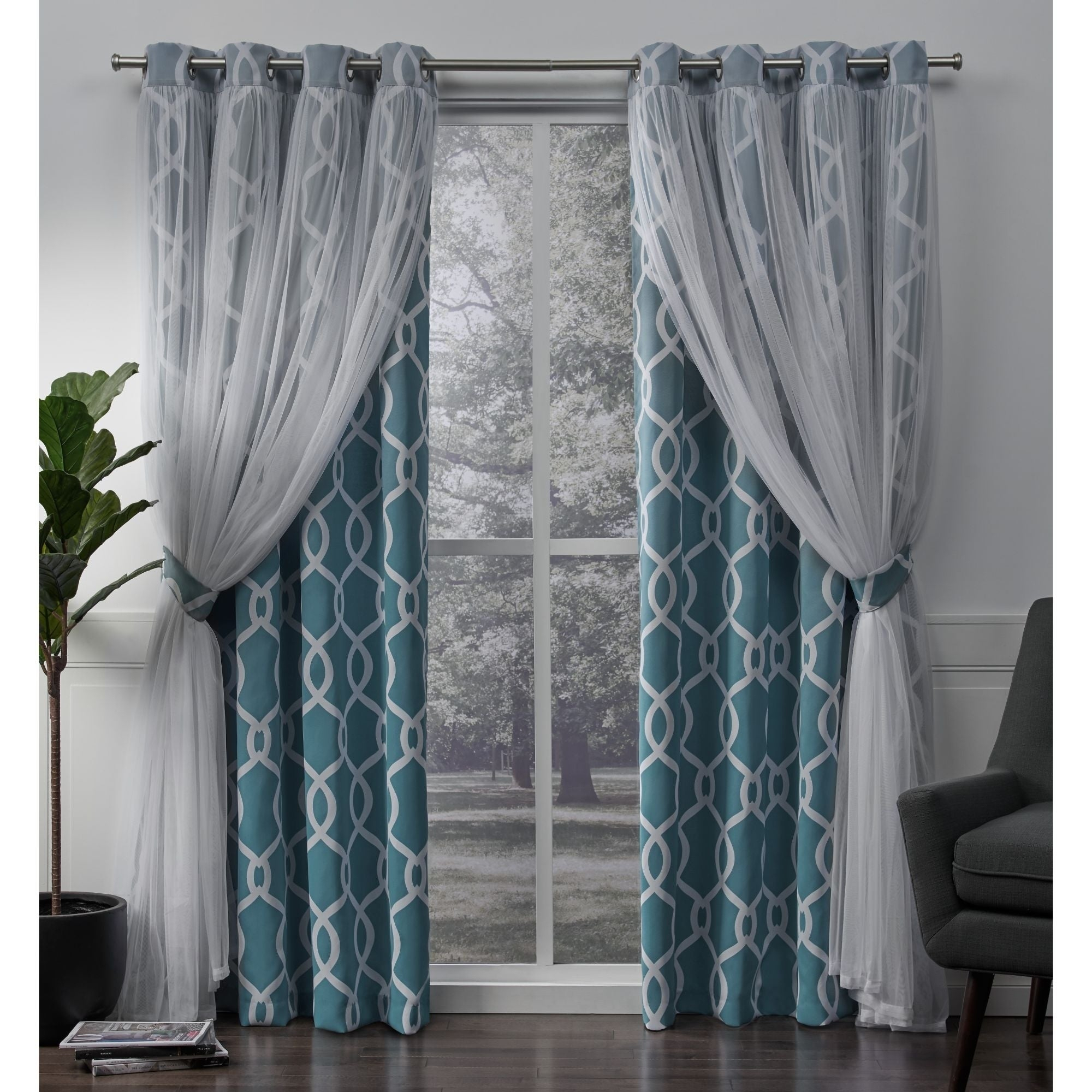 Ati Home Carmela Thermal Woven Blackout Grommet Top Curtain Panel Pair For Woven Blackout Grommet Top Curtain Panel Pairs (View 12 of 30)