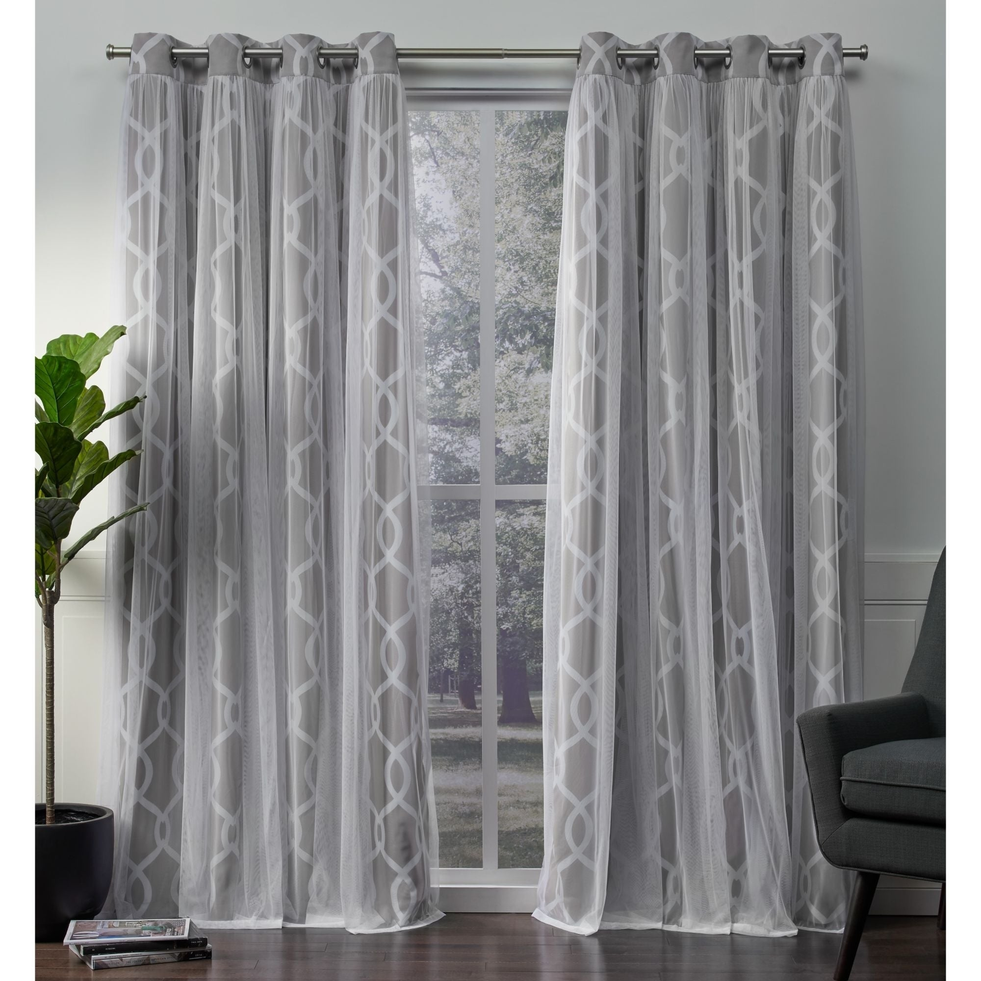 Ati Home Carmela Thermal Woven Blackout Grommet Top Curtain Panel Pair Intended For Thermal Woven Blackout Grommet Top Curtain Panel Pairs (View 4 of 30)