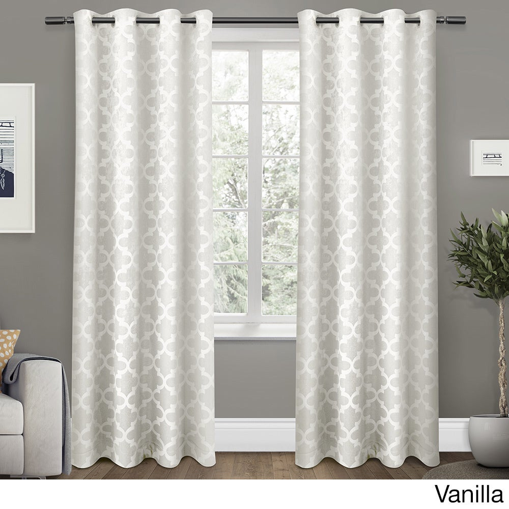 """Ati Home Cartago Woven Blackout Curtain Panel Pair With Grommet Top 96"""" In Dove Grey (as Is Item) Within Woven Blackout Grommet Top Curtain Panel Pairs (View 18 of 30)"""