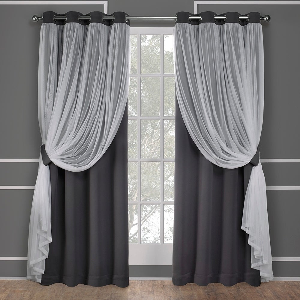Ati Home Catarina Layered Blackout And Sheer Curtain Panel Pair W/ Grommet Top (as Is Item) | Overstock Shopping – The Best Deals On As Is Pertaining To Catarina Layered Curtain Panel Pairs With Grommet Top (View 3 of 20)