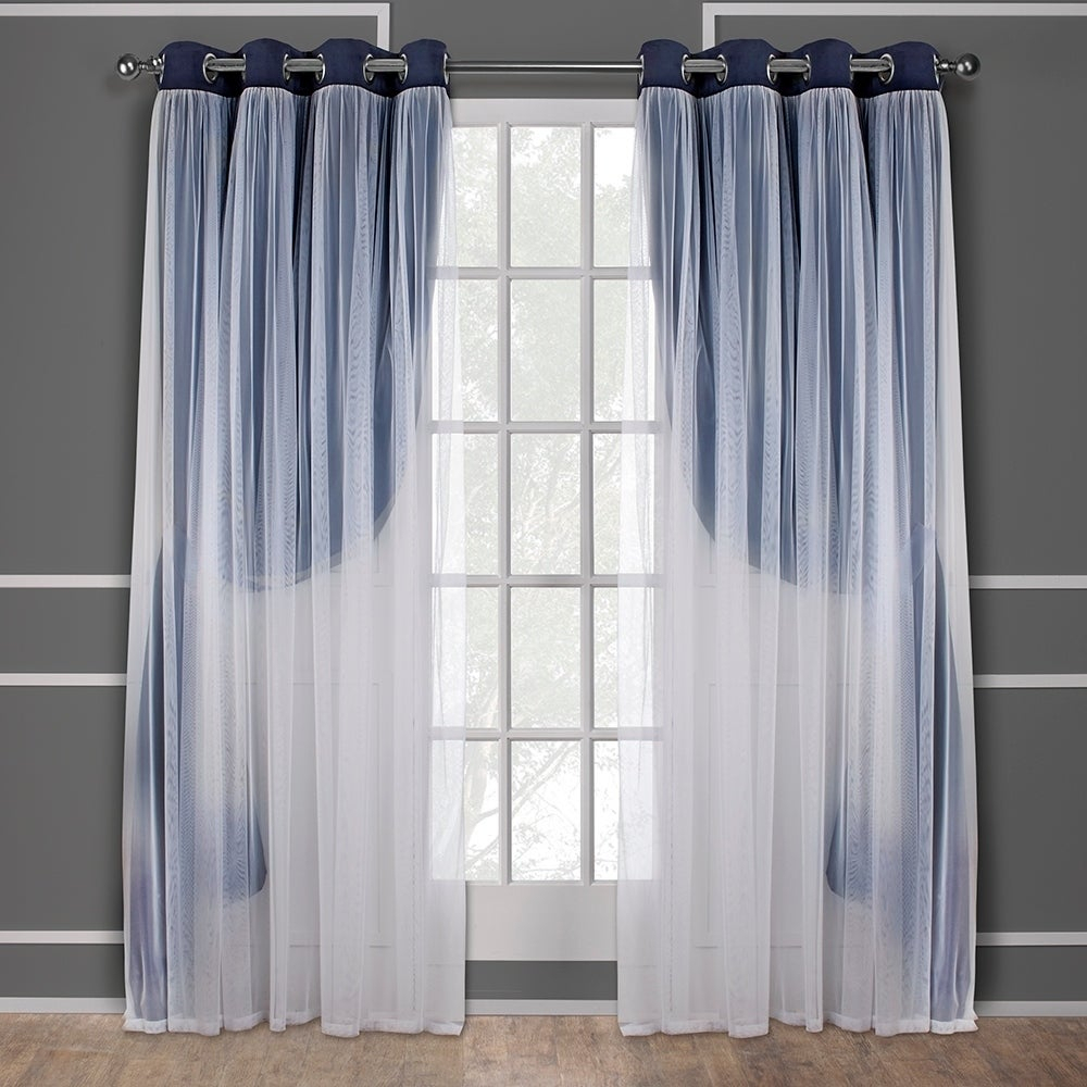 Ati Home Catarina Layered Blackout And Sheer Curtain Panel Pair W/ Grommet Top (as Is Item) | Overstock Shopping – The Best Deals On As Is Within Catarina Layered Curtain Panel Pairs With Grommet Top (View 7 of 20)