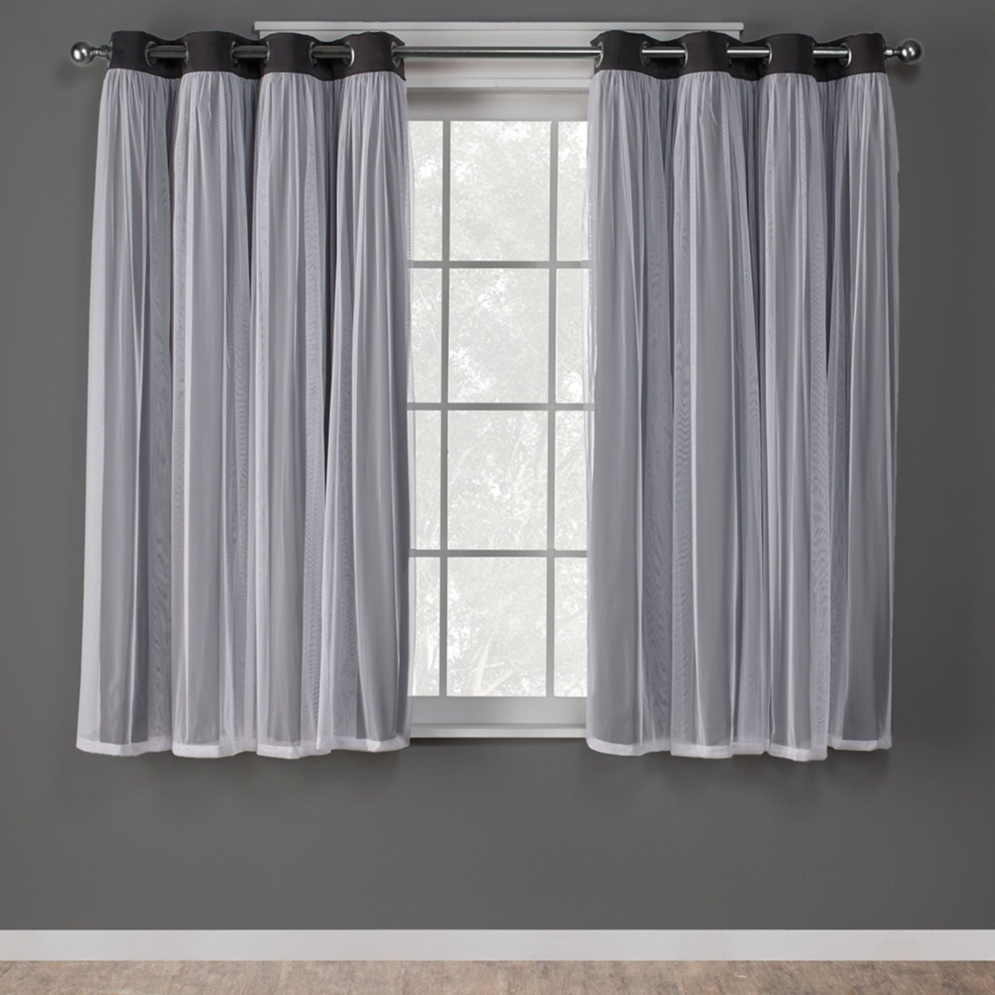 Featured Photo of Catarina Layered Curtain Panel Pairs With Grommet Top