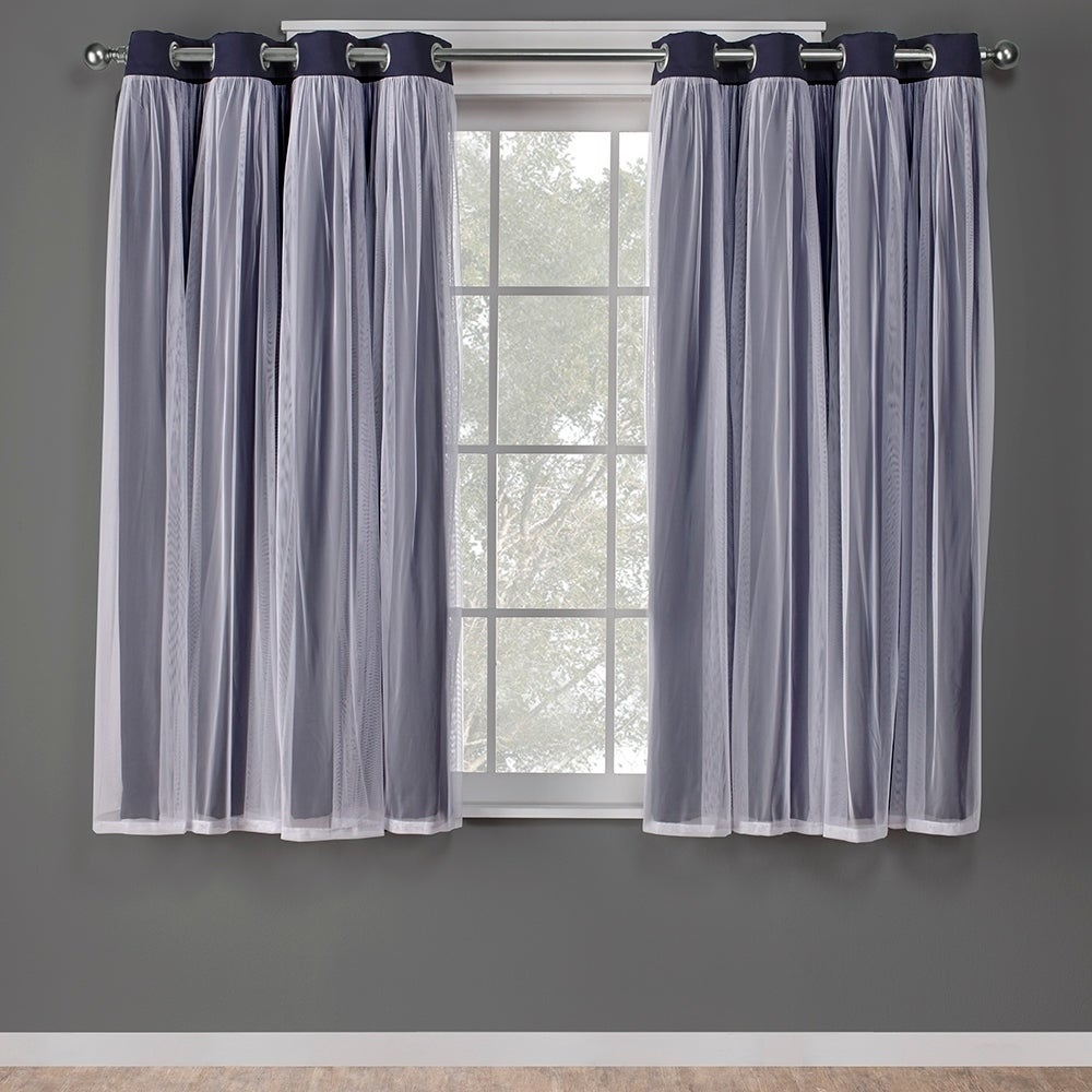 Ati Home Catarina Layered Curtain Panel Pair With Grommet Top | Overstock Shopping – The Best Deals On Curtains With Catarina Layered Curtain Panel Pairs With Grommet Top (View 12 of 20)