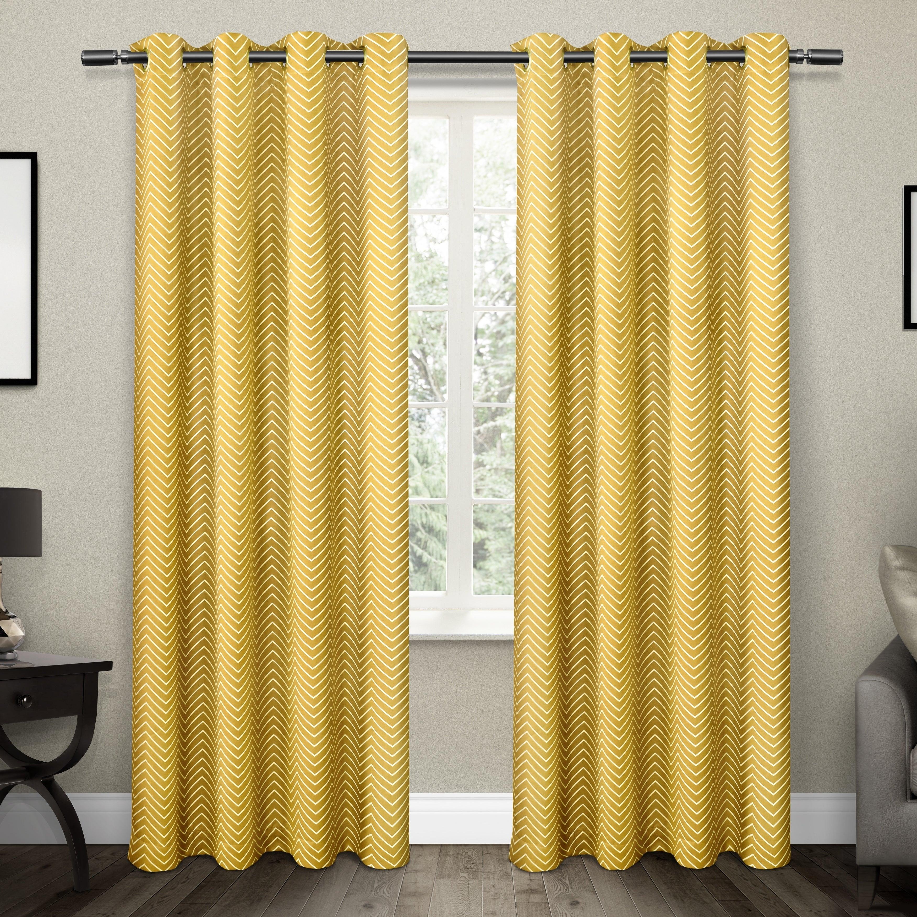 Ati Home Chevron Thermal Woven Blackout Grommet Top Curtain Panel Pair Regarding Chevron Blackout Grommet Curtain Panels (View 9 of 20)