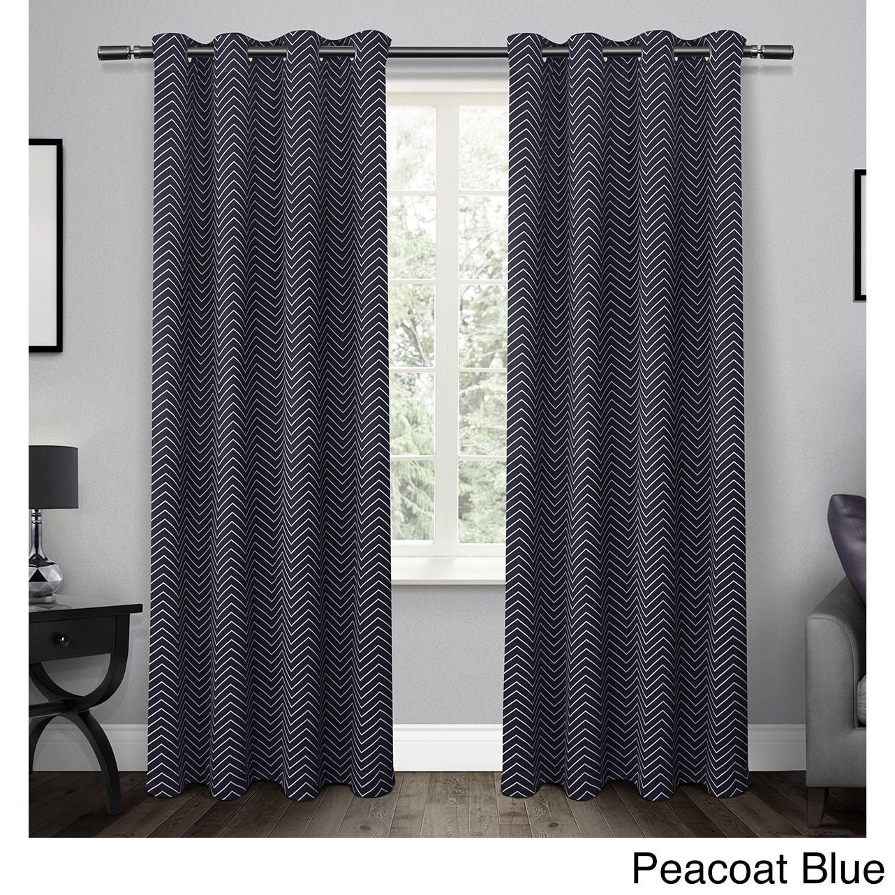 Ati Home Chevron Thermal Woven Blackout Grommet Top Curtain With Regard To Chevron Blackout Grommet Curtain Panels (View 3 of 20)