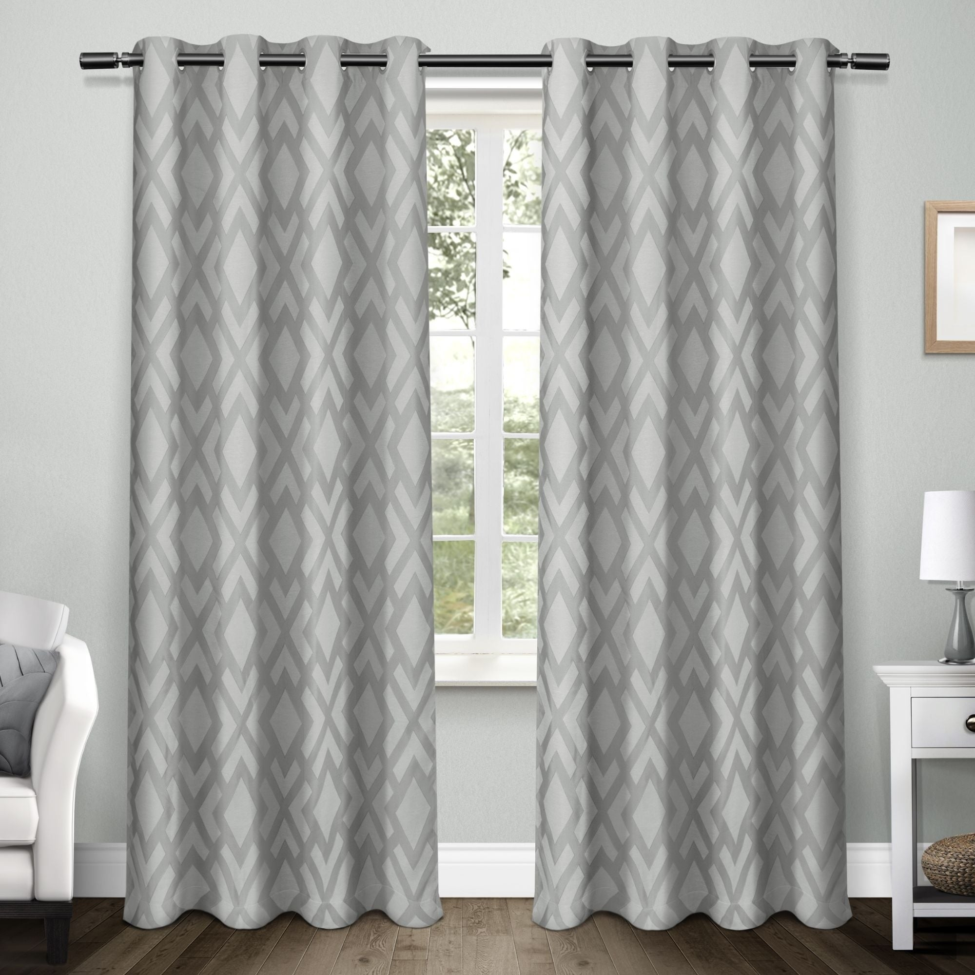 Ati Home Easton Thermal Woven Blackout Grommet Top Curtain Panel Pair Pertaining To Twig Insulated Blackout Curtain Panel Pairs With Grommet Top (View 4 of 30)