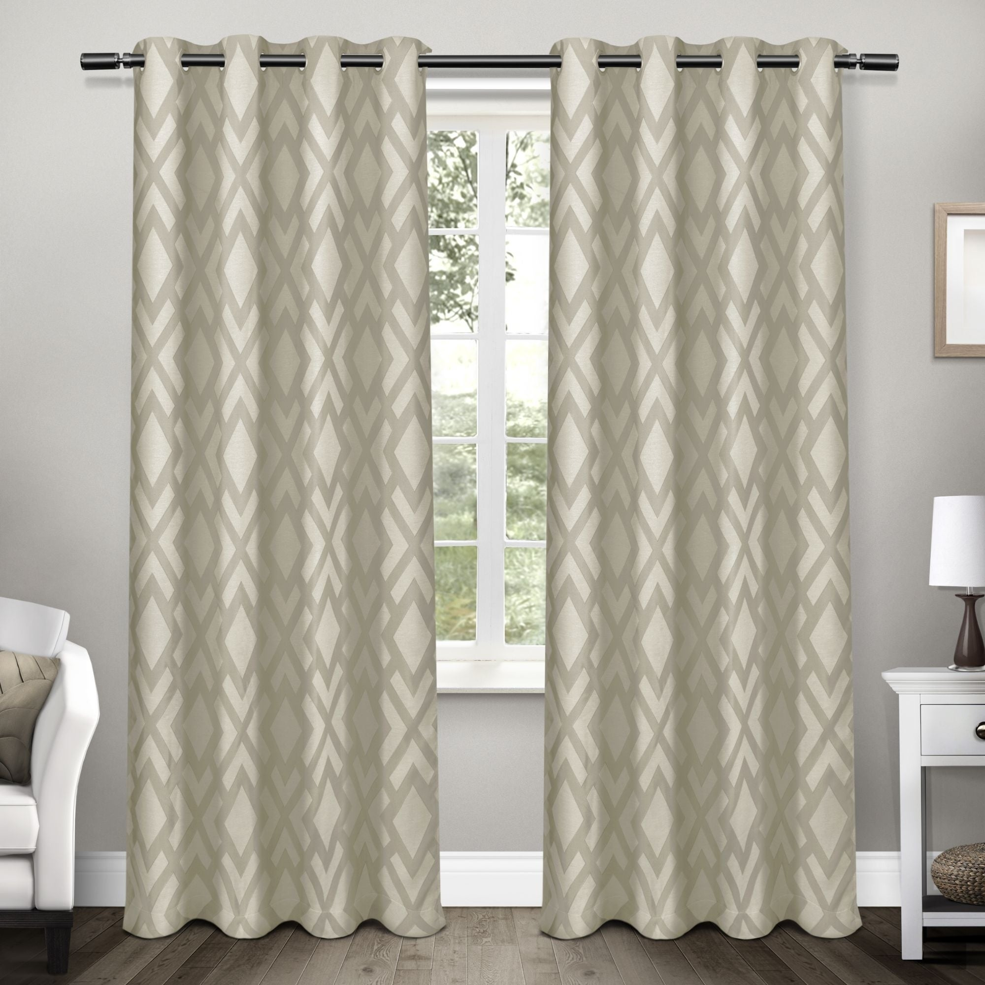 Ati Home Easton Thermal Woven Blackout Grommet Top Curtain Panel Pair Throughout Thermal Woven Blackout Grommet Top Curtain Panel Pairs (View 24 of 30)
