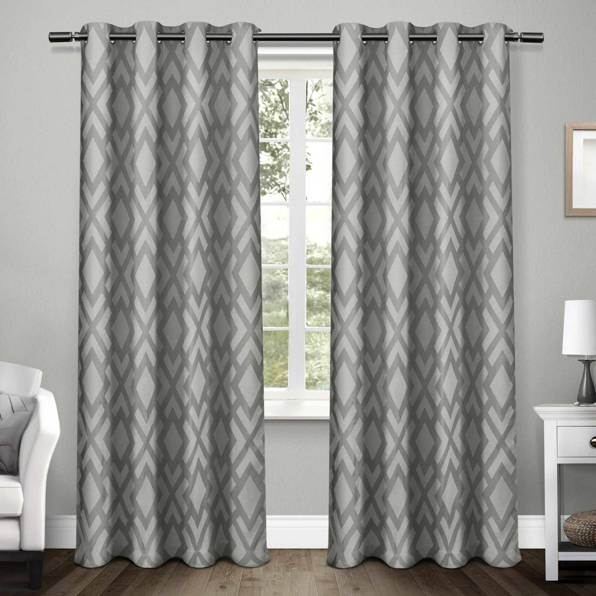 Ati Home Easton Thermal Woven Blackout Grommet Top Curtain Panel Pair Within Gracewood Hollow Tucakovic Energy Efficient Fabric Blackout Curtains (View 13 of 20)