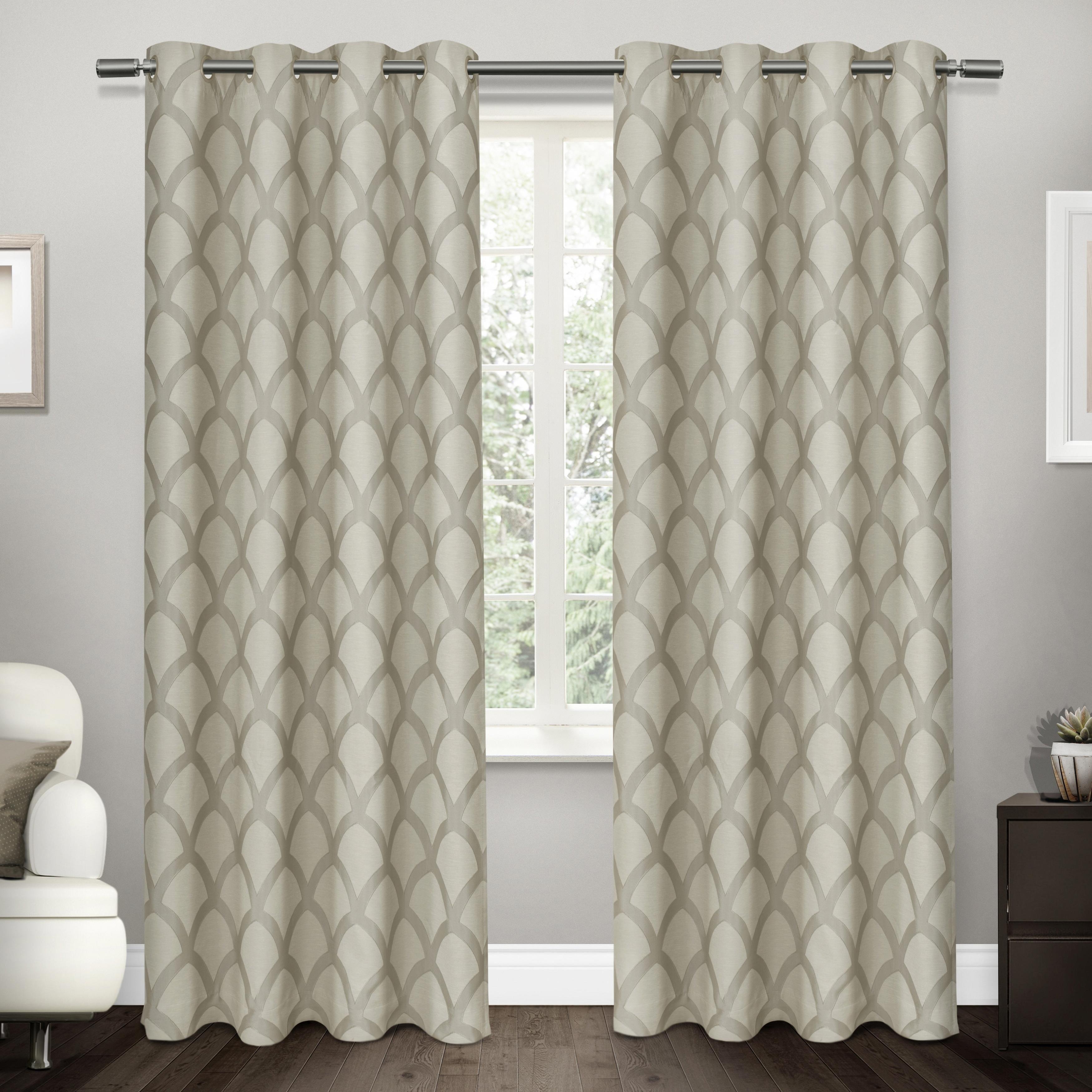 Ati Home Electra Thermal Woven Blackout Grommet Top Curtain Regarding Easton Thermal Woven Blackout Grommet Top Curtain Panel Pairs (View 3 of 20)
