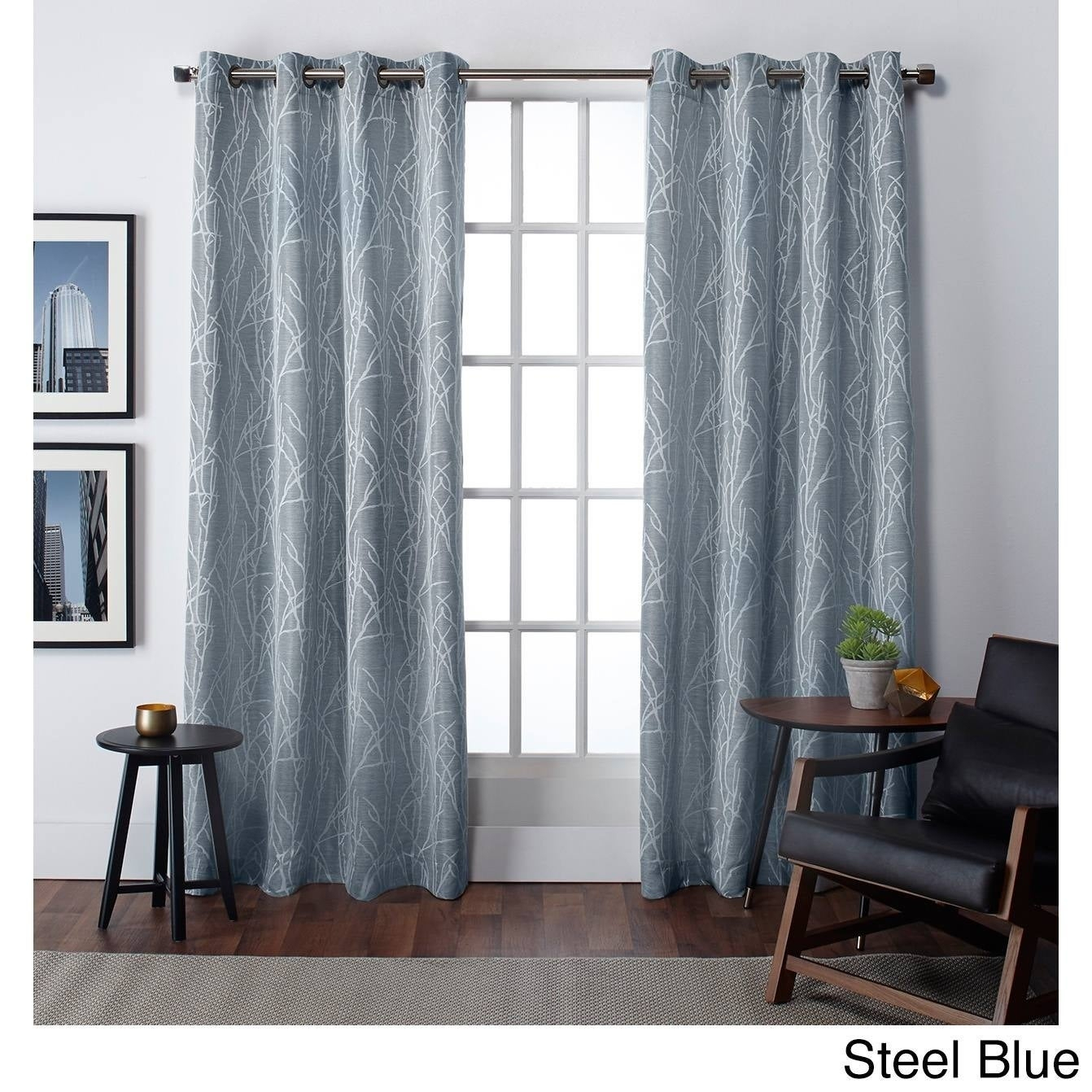 Ati Home Finesse Faux Linen Grommet Top Curtain Panel Pair With Softline Trenton Grommet Top Curtain Panels (View 1 of 30)