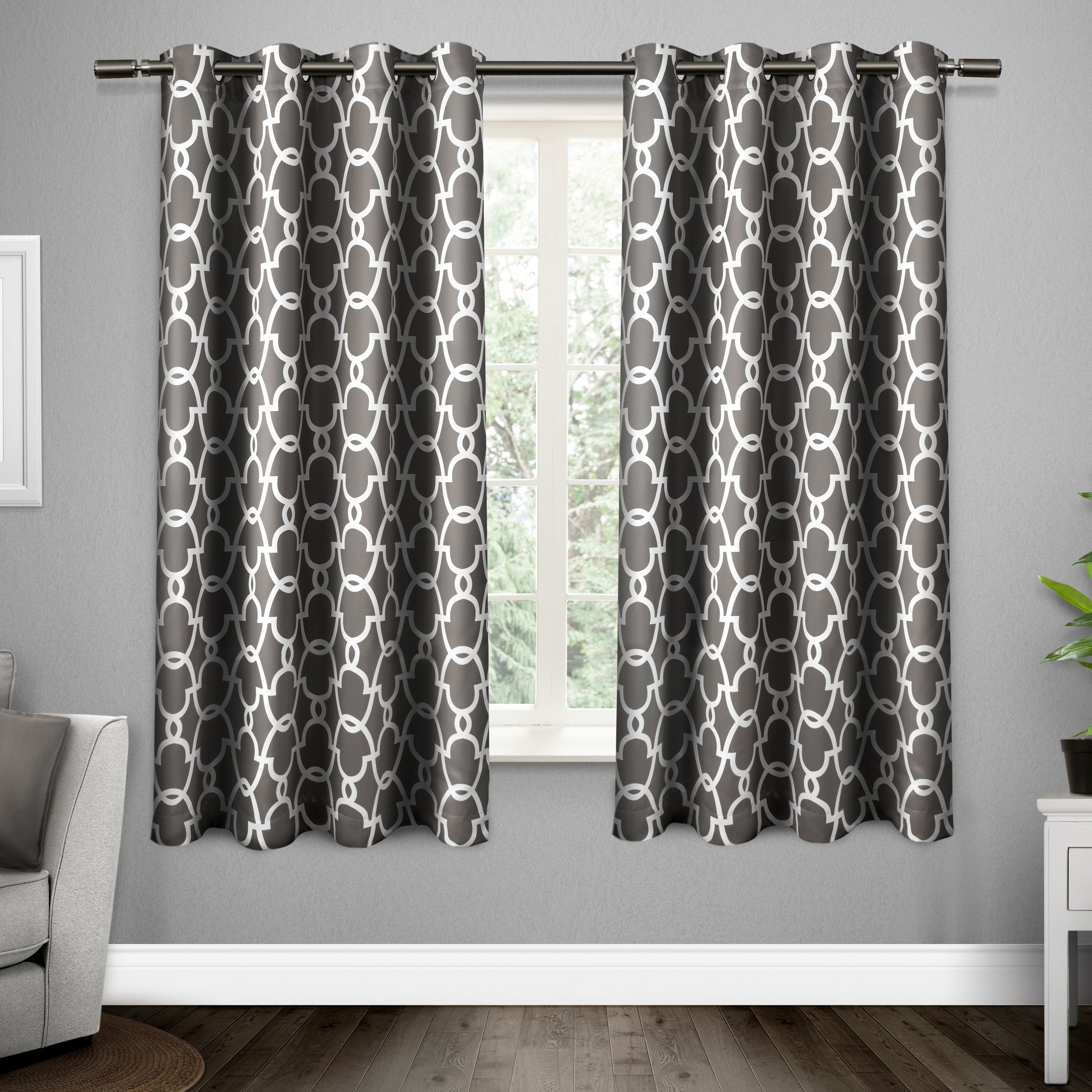 Ati Home Gates Thermal Woven Blackout Grommet Top Curtain Panel Pair In Black Pearl – 52 X 63 (as Is Item) Throughout Easton Thermal Woven Blackout Grommet Top Curtain Panel Pairs (View 16 of 20)