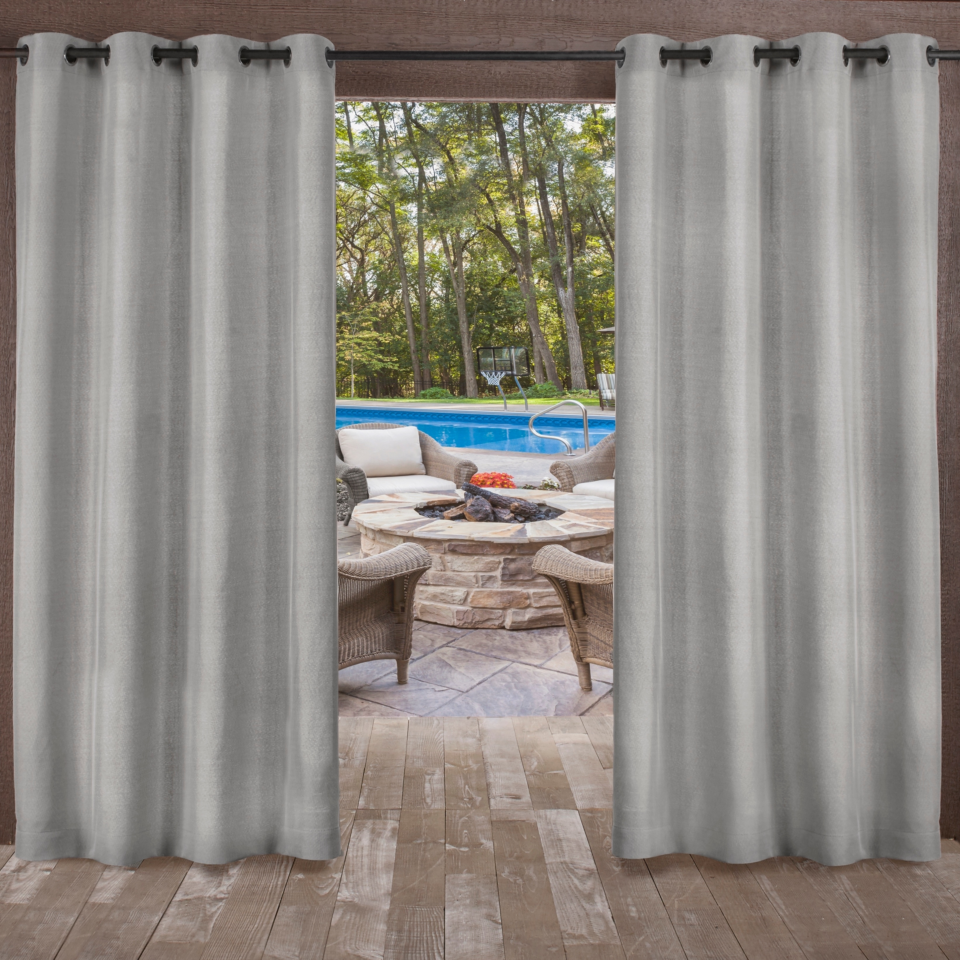 Ati Home Indoor/outdoor Grommet Top Curtain Panel Pair Intended For Indoor/outdoor Solid Cabana Grommet Top Curtain Panel Pairs (View 1 of 20)