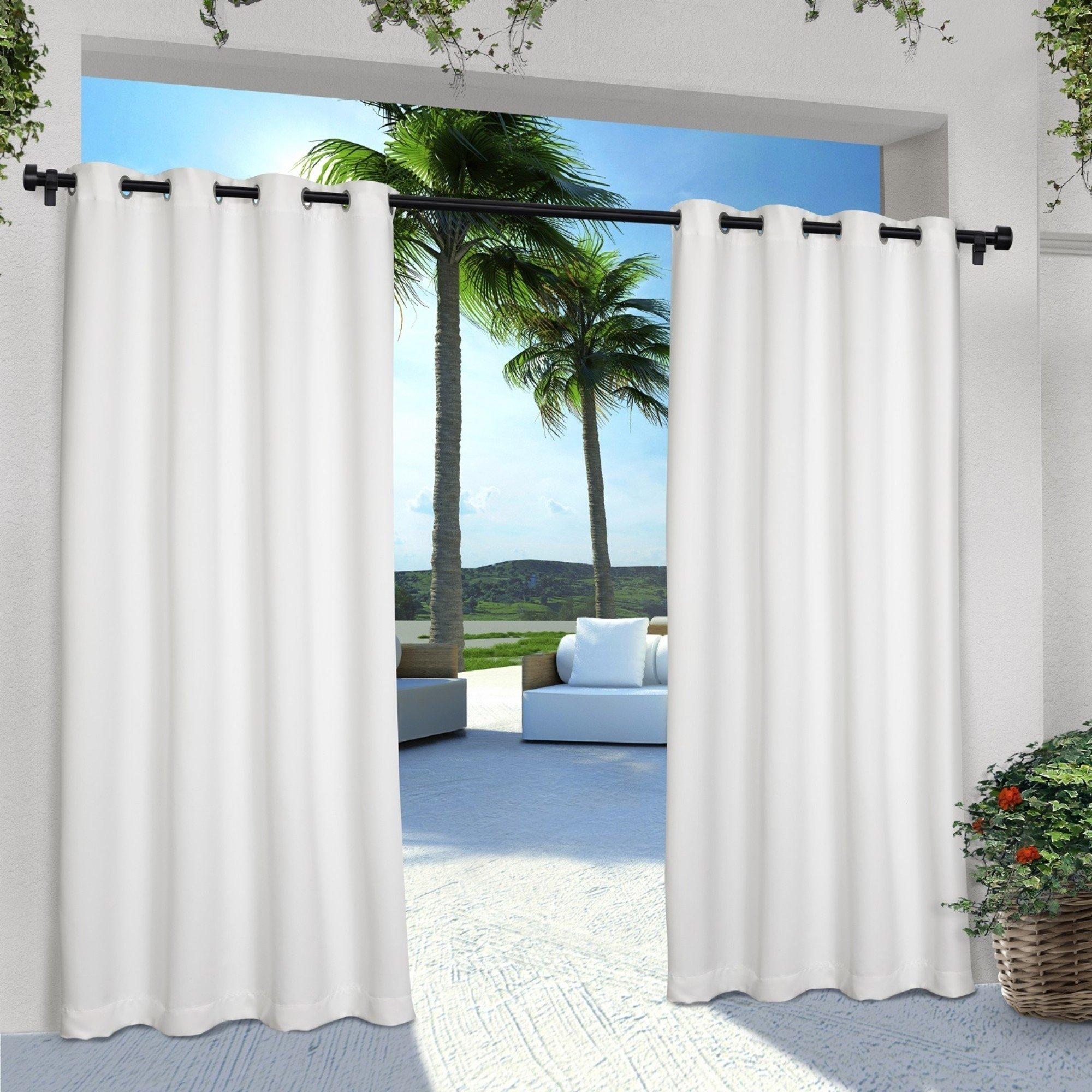 Ati Home Indoor/outdoor Solid Grommet Top Curtain Panel Pair Throughout Delano Indoor/outdoor Grommet Top Curtain Panel Pairs (View 13 of 20)