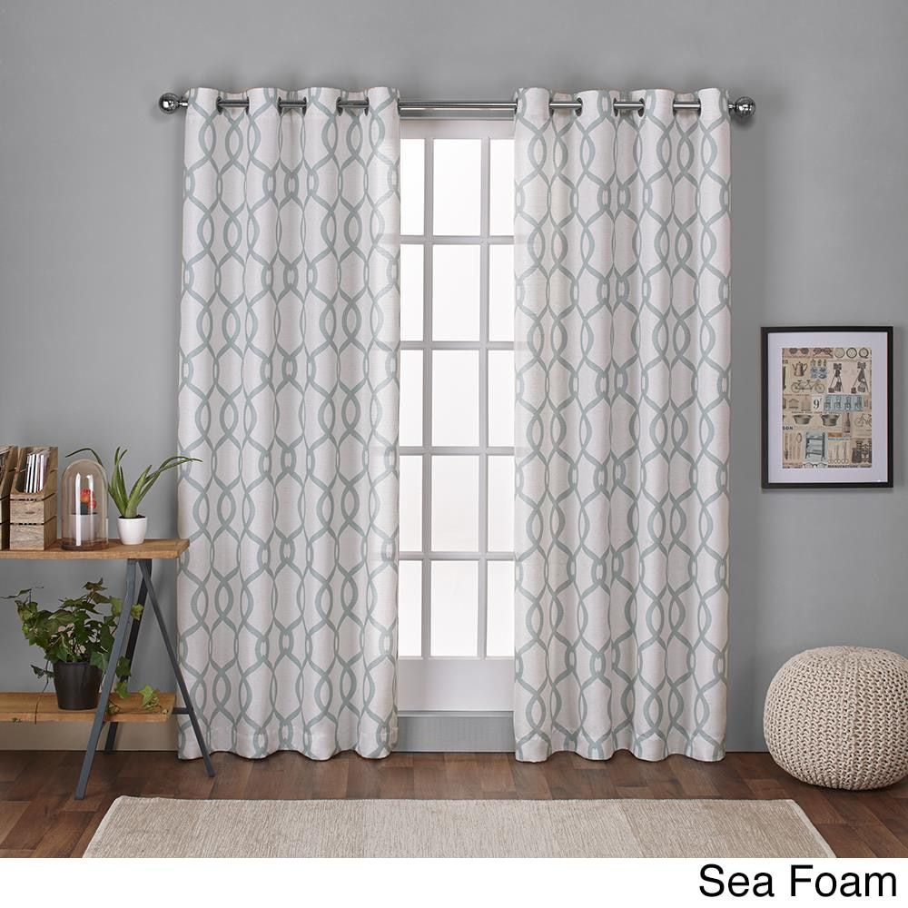Ati Home Kochi Linen Blend Grommet Top Curtain Panel Pair In Kochi Linen Blend Window Grommet Top Curtain Panel Pairs (View 2 of 20)