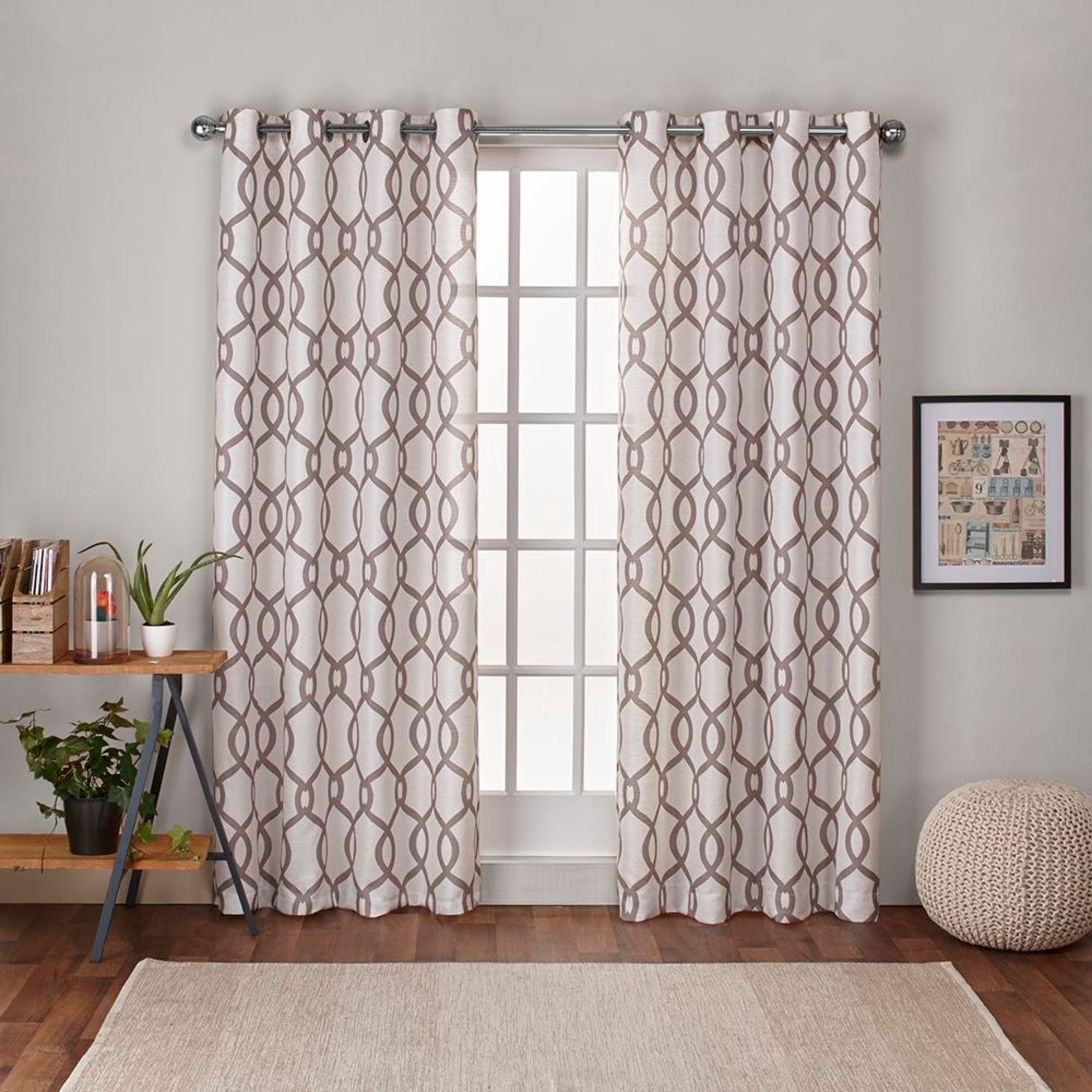 "Ati Home Kochi Linen Blend Window Grommet Top Curtain Panel Pair 108"" L In Blush (as Is Item) Throughout Kochi Linen Blend Window Grommet Top Curtain Panel Pairs (View 3 of 20)"