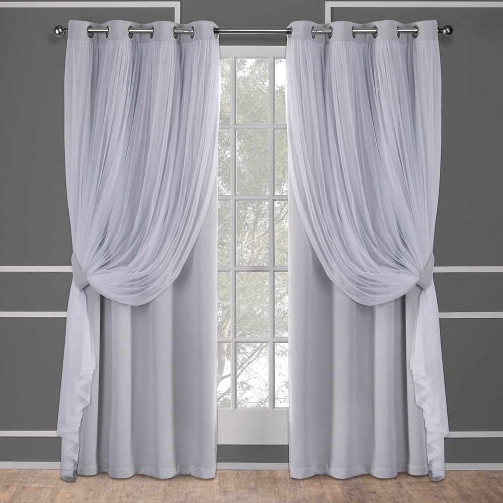 "Ati Home Layered Curtain Panel Pair With Grommet Top (52""w X Regarding Catarina Layered Curtain Panel Pairs With Grommet Top (View 2 of 20)"