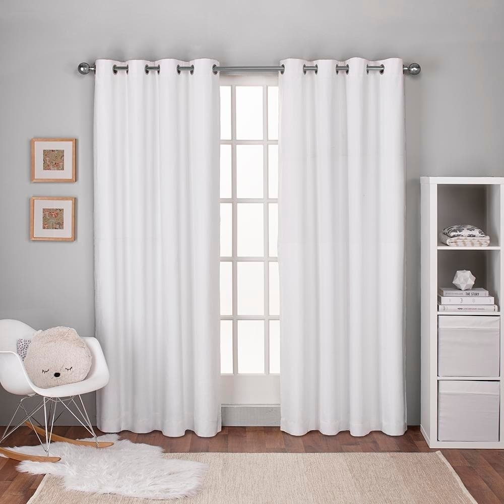 Ati Home Linen Thermal Woven Blackout Grommet Top Curtain For Thermal Textured Linen Grommet Top Curtain Panel Pairs (View 4 of 30)