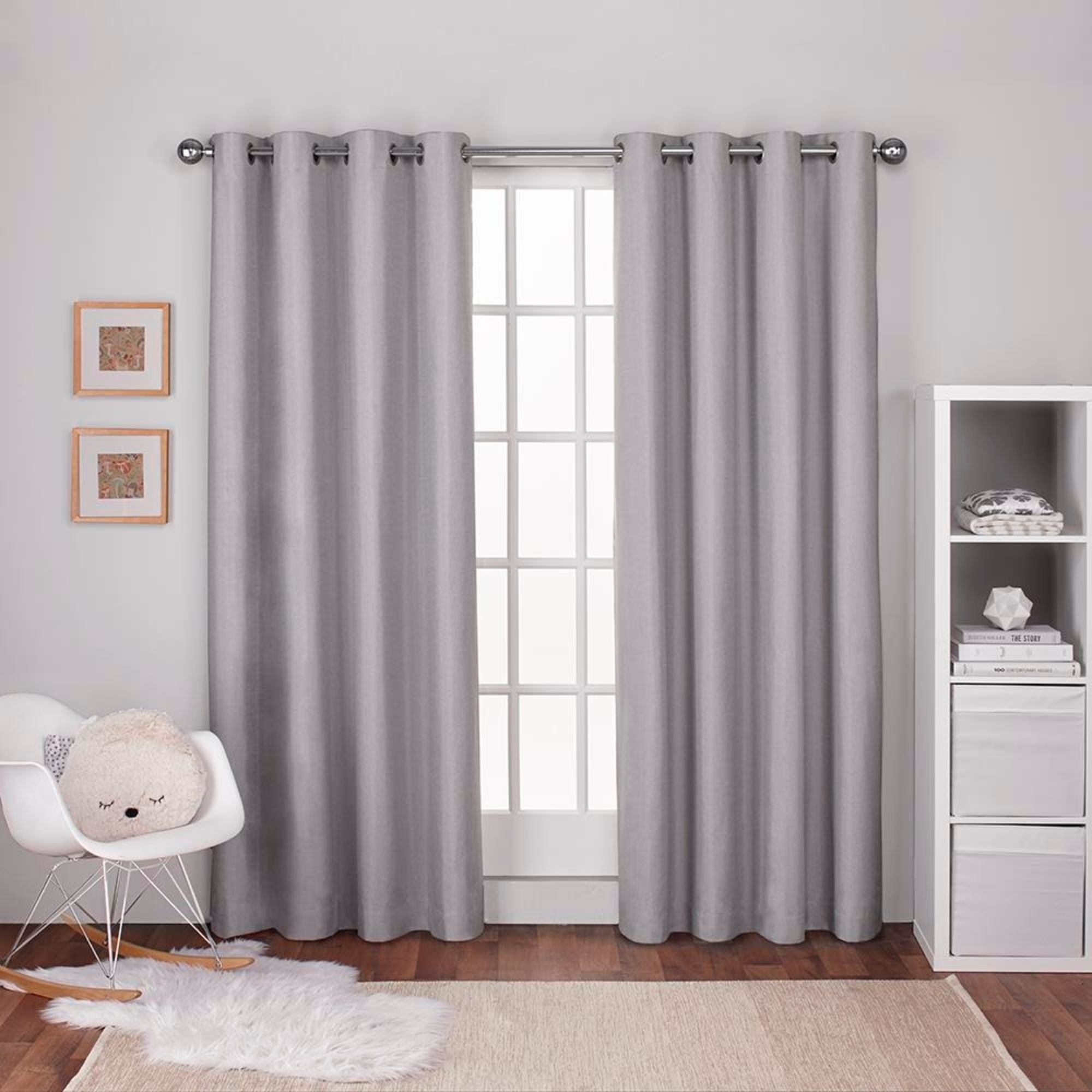 Ati Home Linen Thermal Woven Blackout Grommet Top Curtain Panel Pair In Thermal Woven Blackout Grommet Top Curtain Panel Pairs (View 9 of 30)