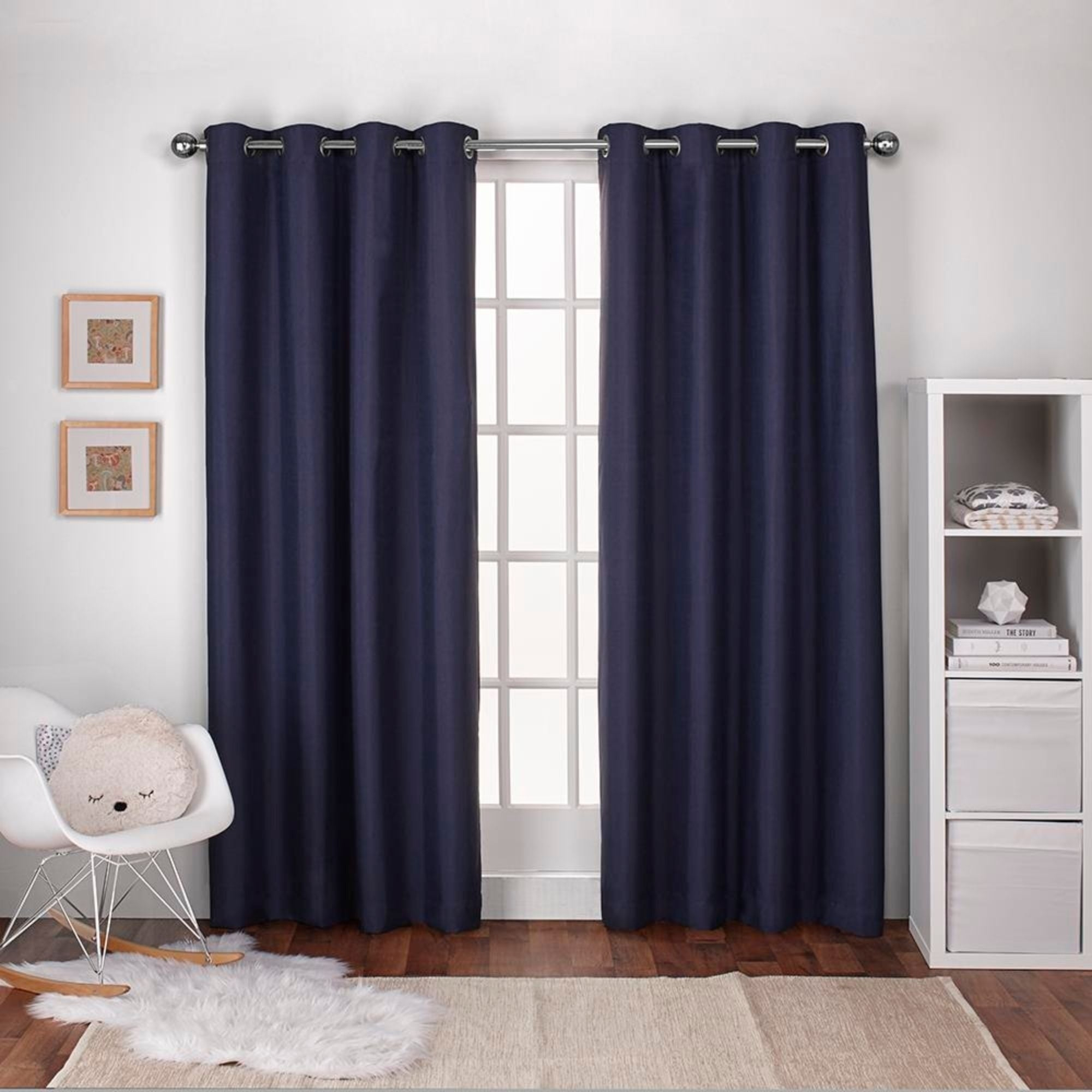 Ati Home Linen Thermal Woven Blackout Grommet Top Curtain Panel Pair Intended For Woven Blackout Curtain Panel Pairs With Grommet Top (View 15 of 30)