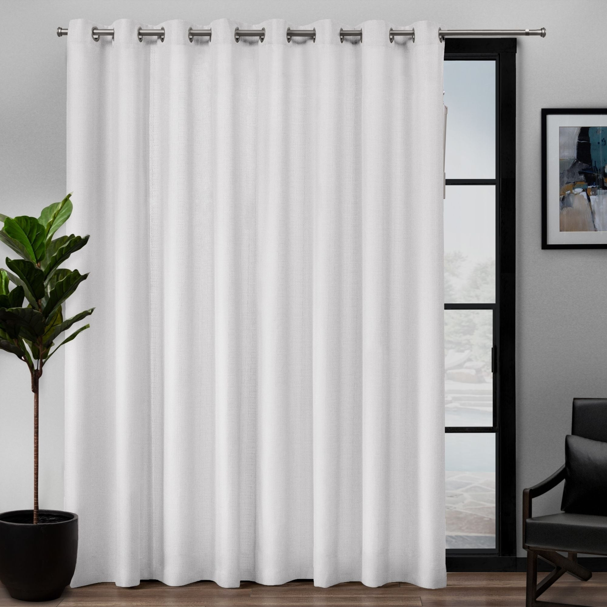 Ati Home Loha Patio Grommet Top Single Curtain Panel – 108x84 Inside Davis Patio Grommet Top Single Curtain Panels (View 2 of 20)