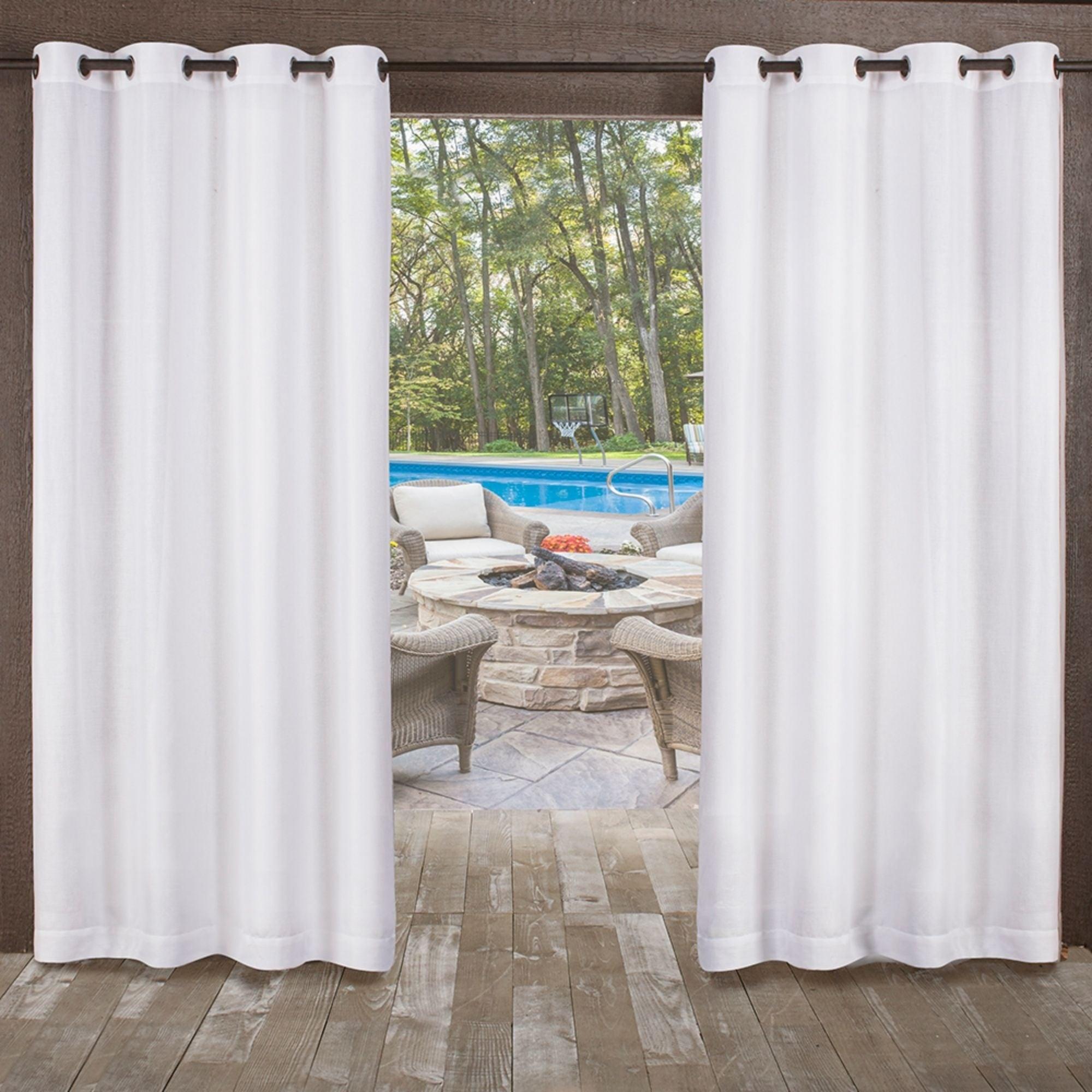 Ati Home Miami Indoor/outdoor Grommet Top Curtain Panel Pair Regarding Delano Indoor/outdoor Grommet Top Curtain Panel Pairs (View 4 of 20)