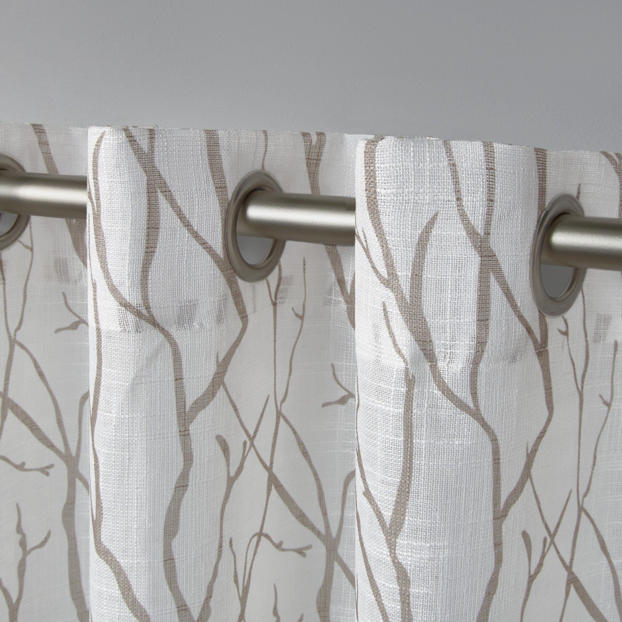 Ati Home Oakdale Textured Linen Sheer Grommet Top Curtain Panel Pair Within Oakdale Textured Linen Sheer Grommet Top Curtain Panel Pairs (View 5 of 20)