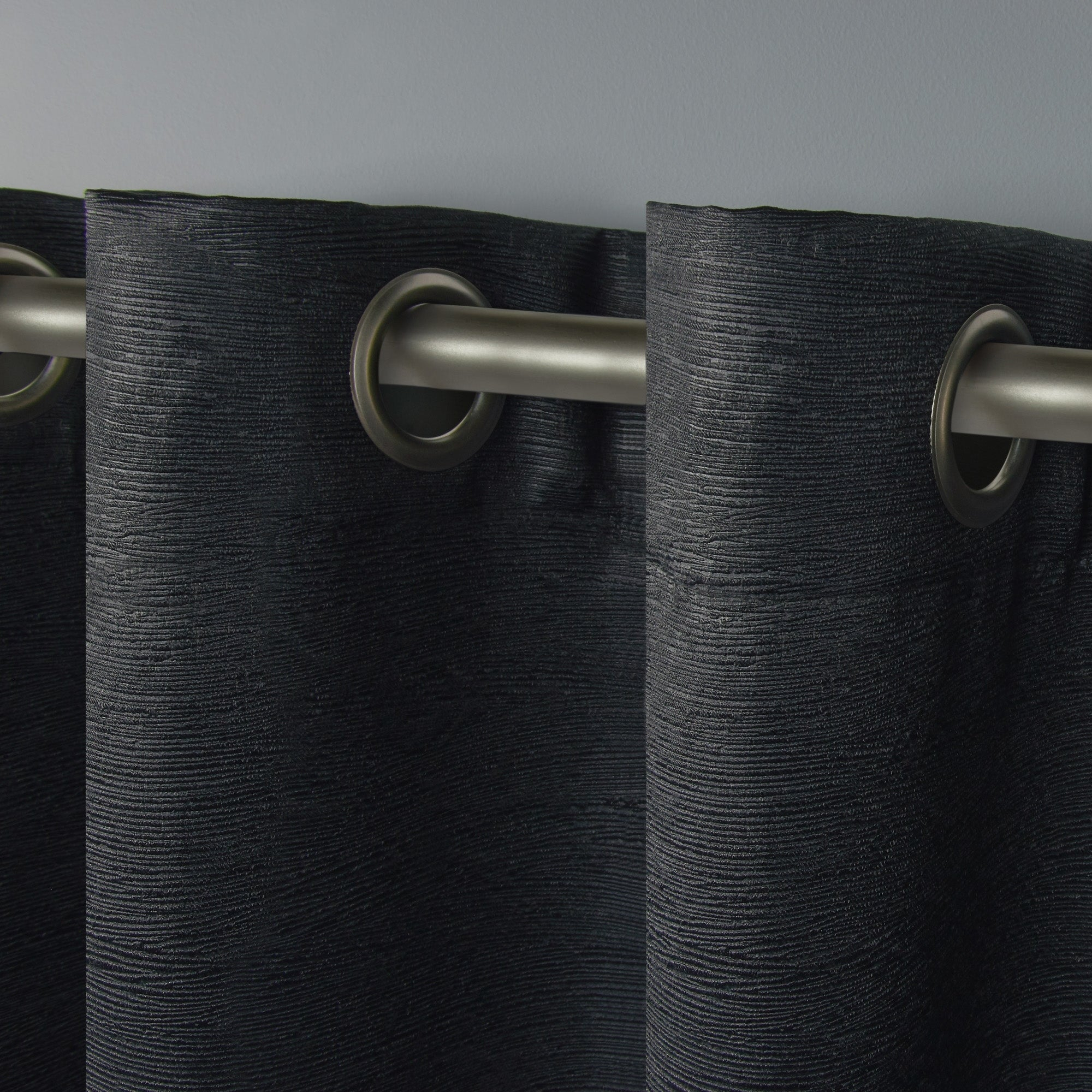 Ati Home Oxford Sateen Woven Blackout Grommet Top Curtain Panel Pair Intended For Oxford Sateen Woven Blackout Grommet Top Curtain Panel Pairs (View 5 of 20)