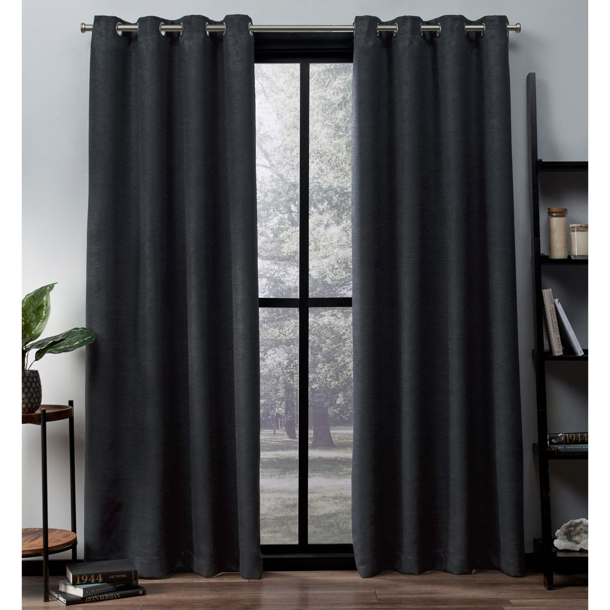 Ati Home Oxford Sateen Woven Blackout Grommet Top Curtain Panel Pair Regarding Oxford Sateen Woven Blackout Grommet Top Curtain Panel Pairs (View 3 of 20)