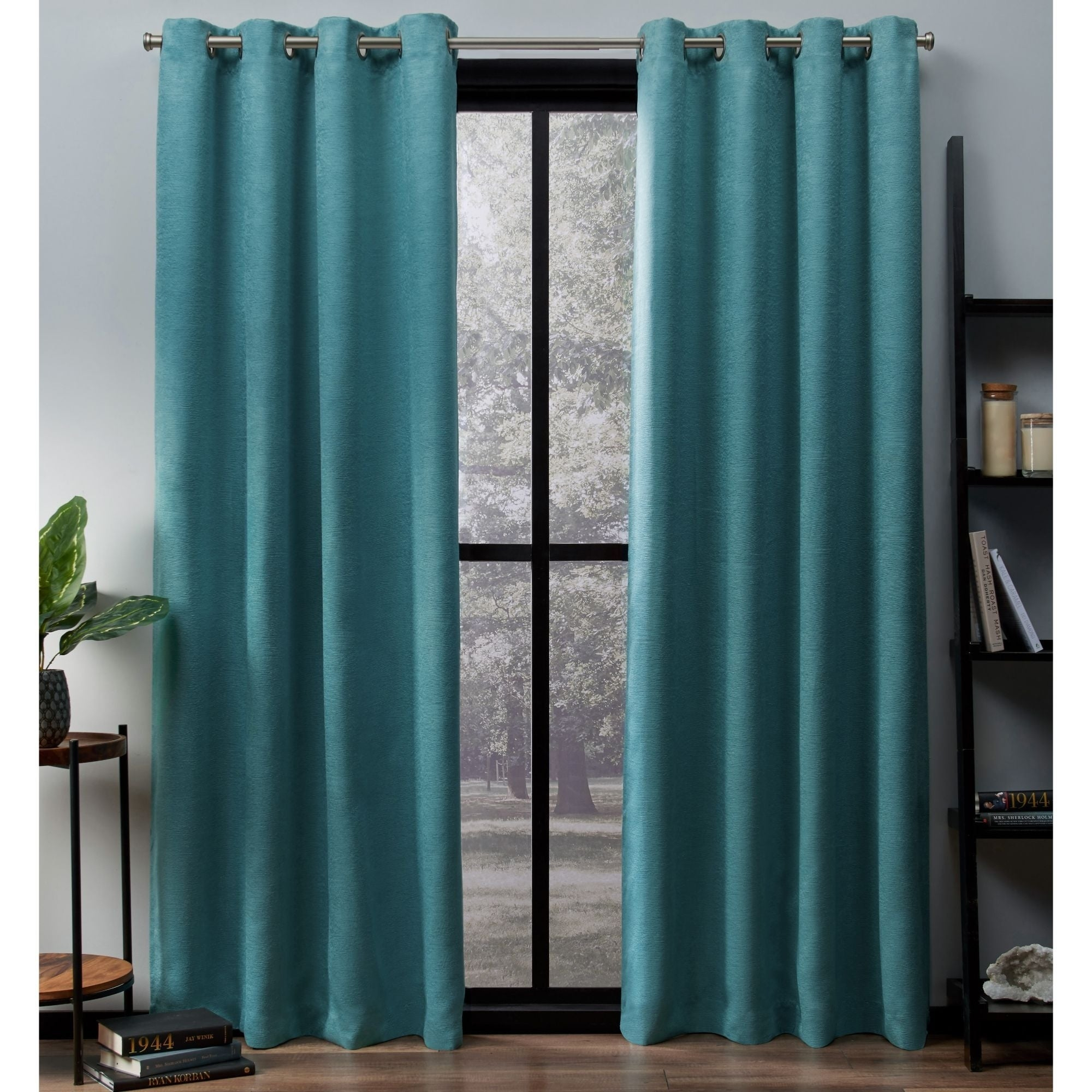 Ati Home Oxford Sateen Woven Blackout Grommet Top Curtain Panel Pair Throughout Oxford Sateen Woven Blackout Grommet Top Curtain Panel Pairs (View 4 of 20)