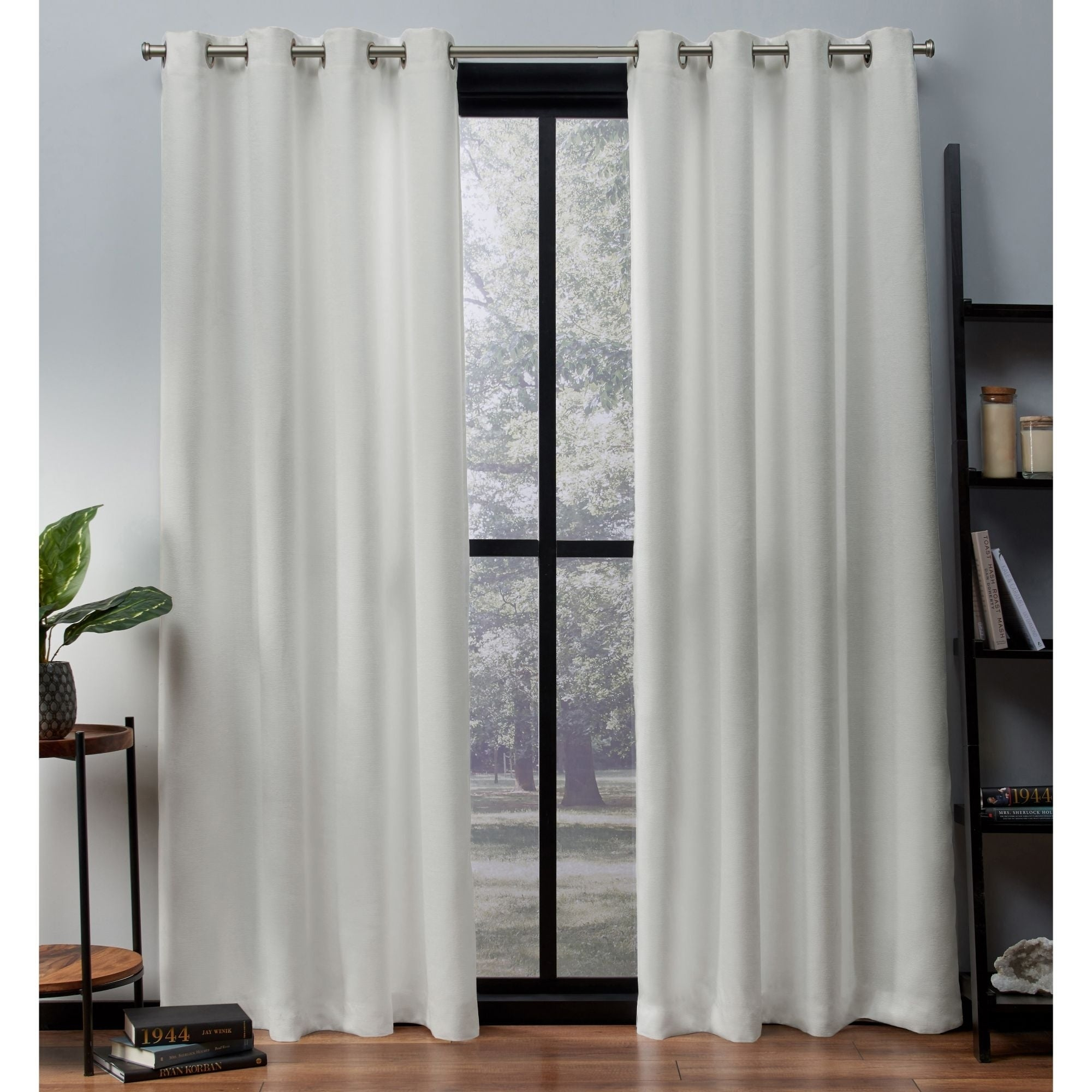Ati Home Oxford Sateen Woven Blackout Grommet Top Curtain Panel Pair Within Oxford Sateen Woven Blackout Grommet Top Curtain Panel Pairs (View 2 of 20)