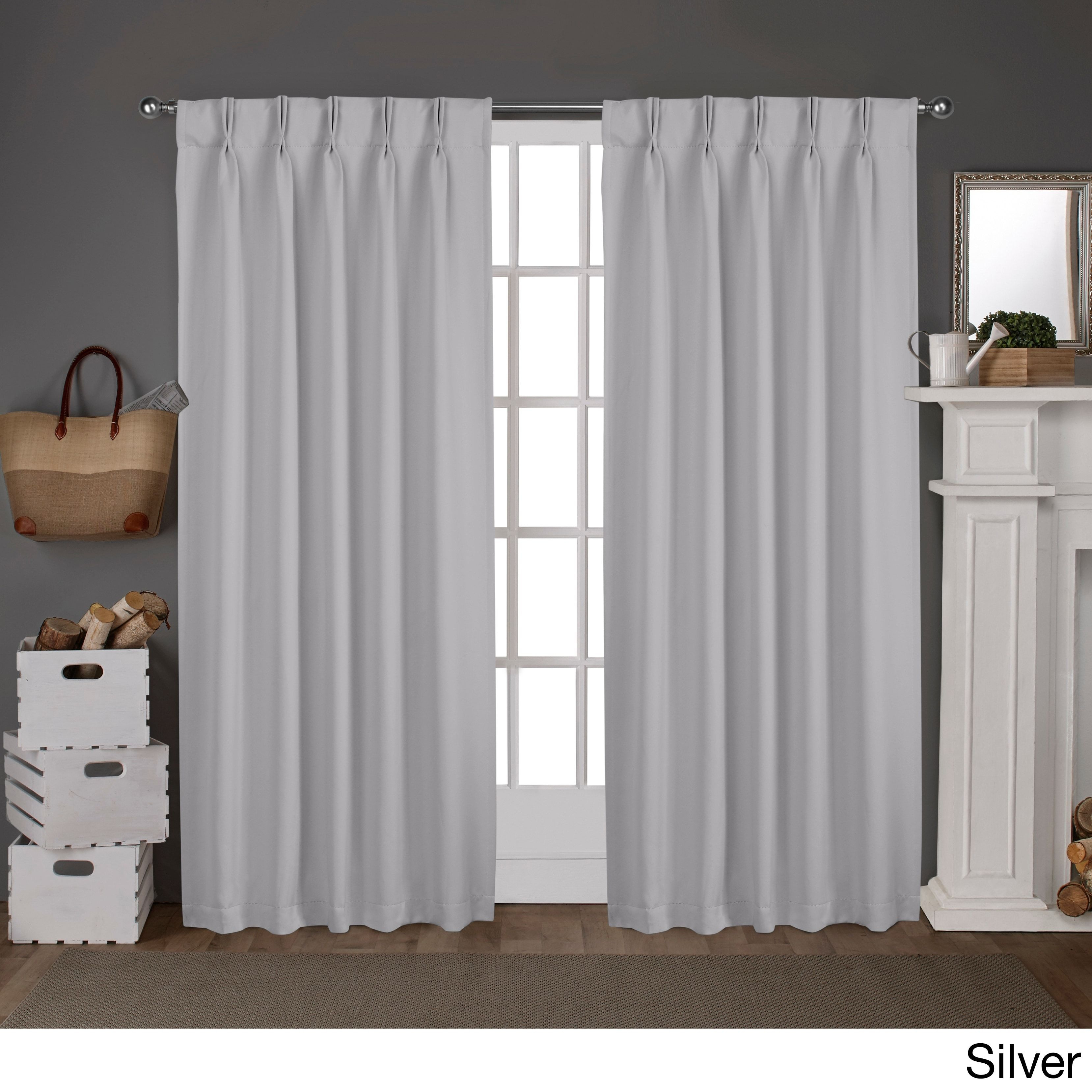 Ati Home Sateen Pinch Pleat Woven Blackout Back Tab Curtain With Sateen Woven Blackout Curtain Panel Pairs With Pinch Pleat Top (View 4 of 20)