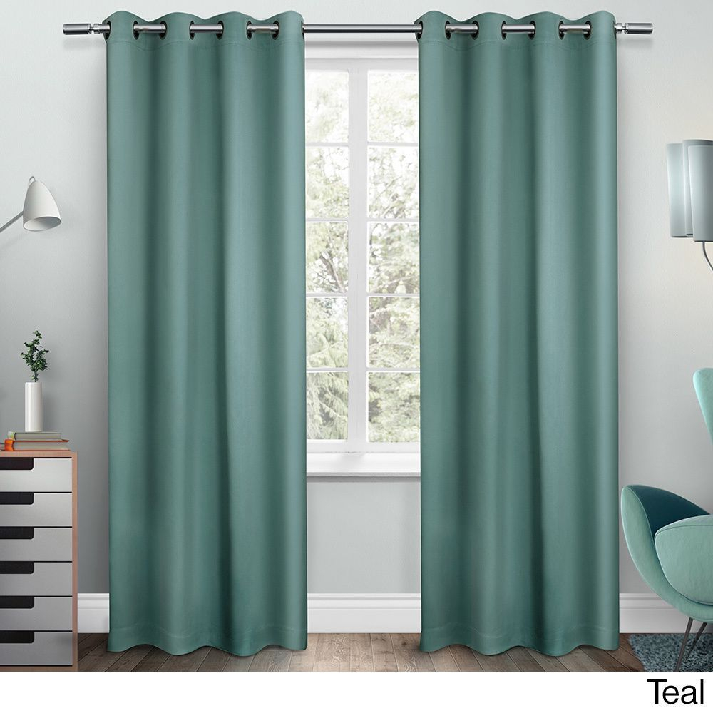 Ati Home Sateen Twill Weave Insulated Blackout Window Regarding Sateen Twill Weave Insulated Blackout Window Curtain Panel Pairs (View 2 of 20)