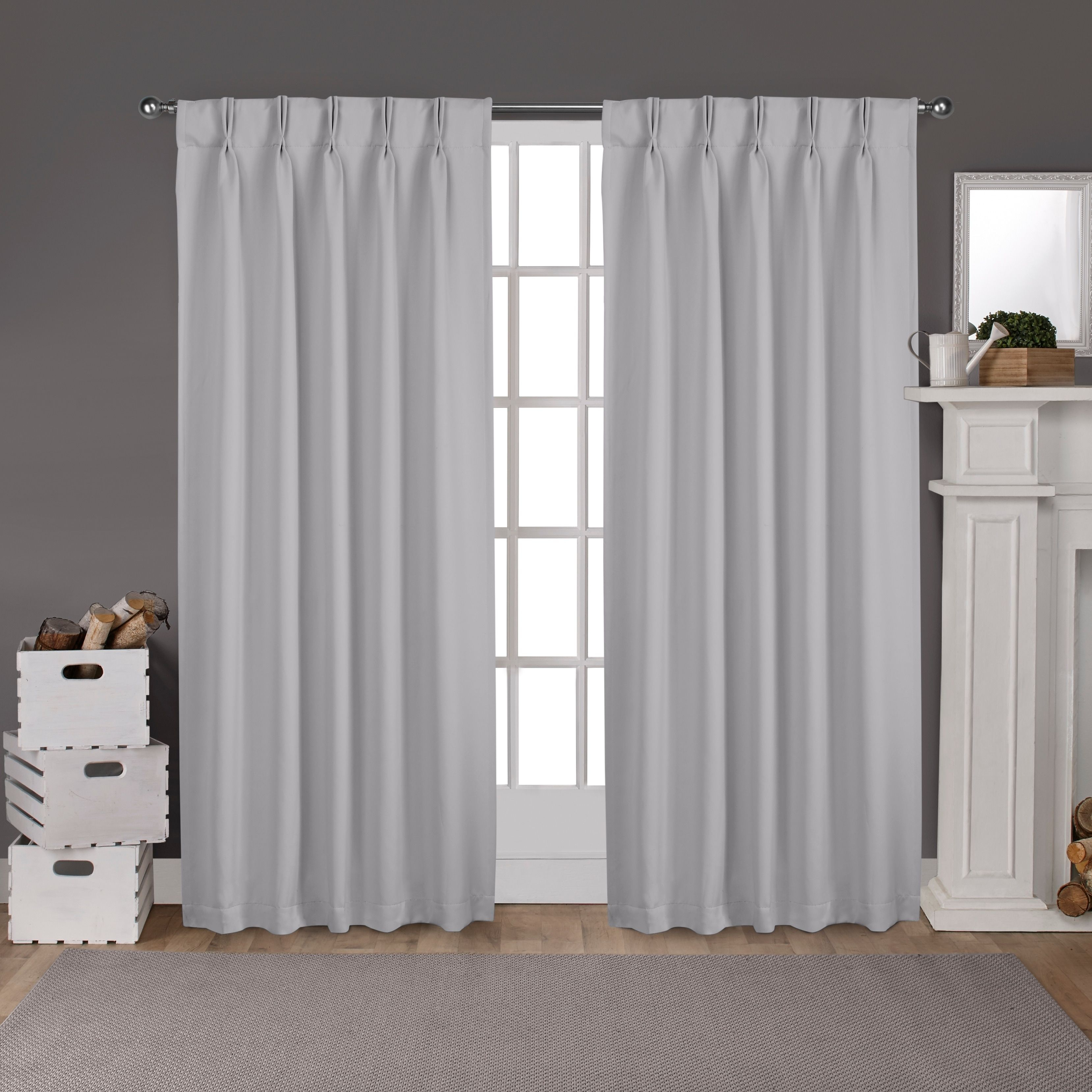 Ati Home Sateen Woven Blackout Curtain Panel Pair With Pinch For Sateen Woven Blackout Curtain Panel Pairs With Pinch Pleat Top (View 7 of 20)
