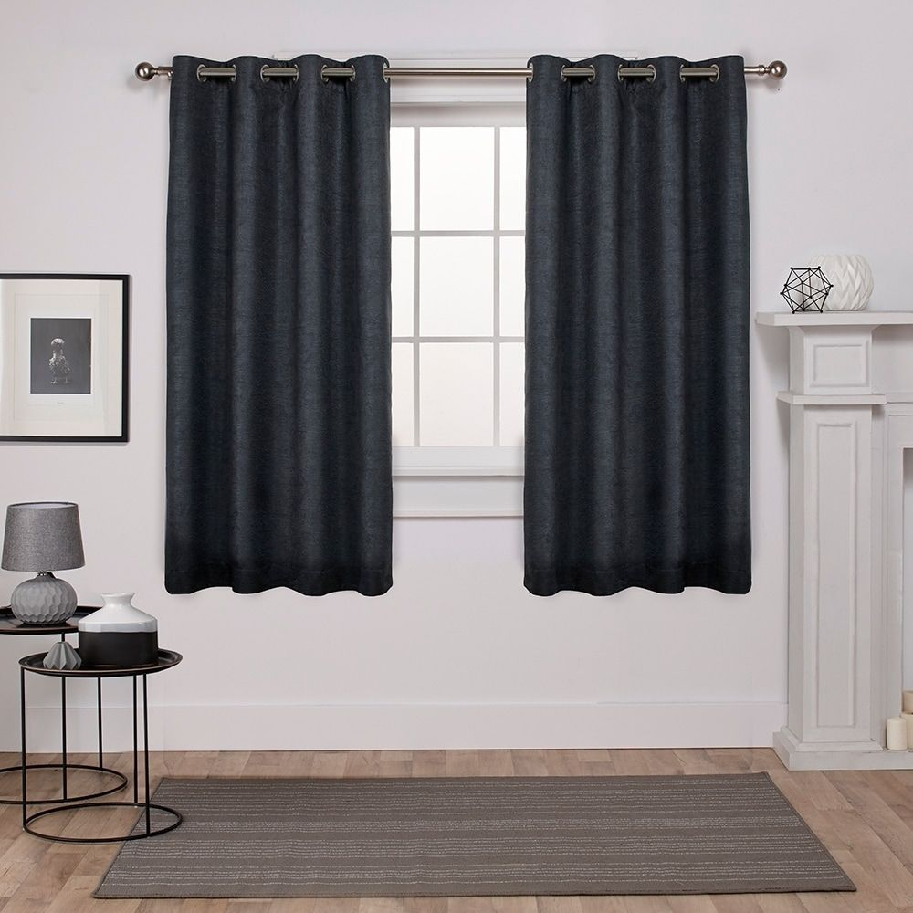 Ati Home Sateen Woven Blackout Grommet Top Curtain Panel Within Oxford Sateen Woven Blackout Grommet Top Curtain Panel Pairs (View 7 of 20)