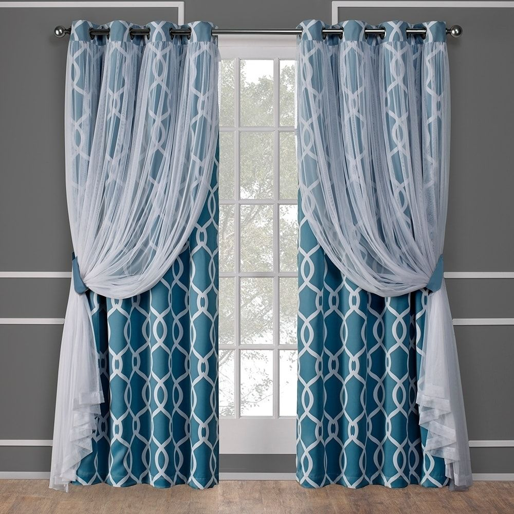Ati Home Thermal Woven Blackout Grommet Top Curtain Panel With Regard To Woven Blackout Grommet Top Curtain Panel Pairs (View 21 of 30)