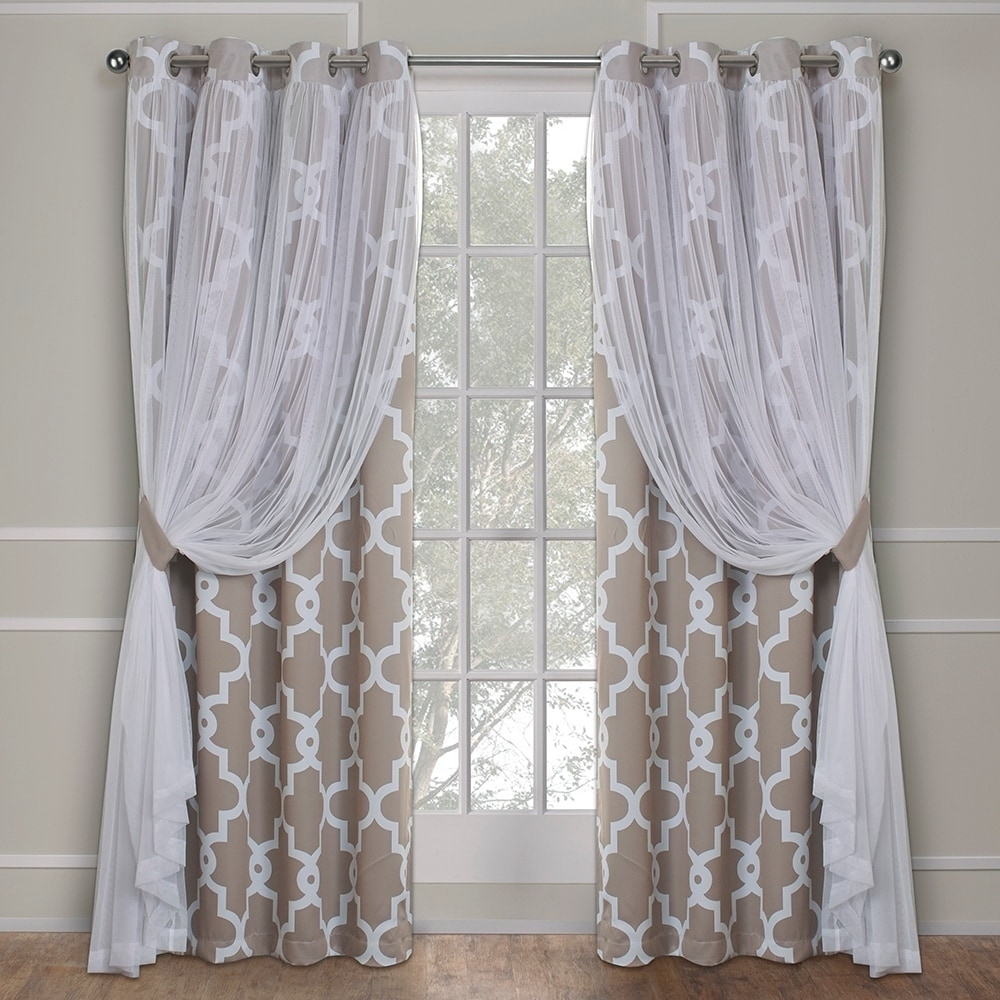 Ati Home Thermal Woven Blackout Grommet Top Curtain Panel With Regard To Woven Blackout Grommet Top Curtain Panel Pairs (View 17 of 30)