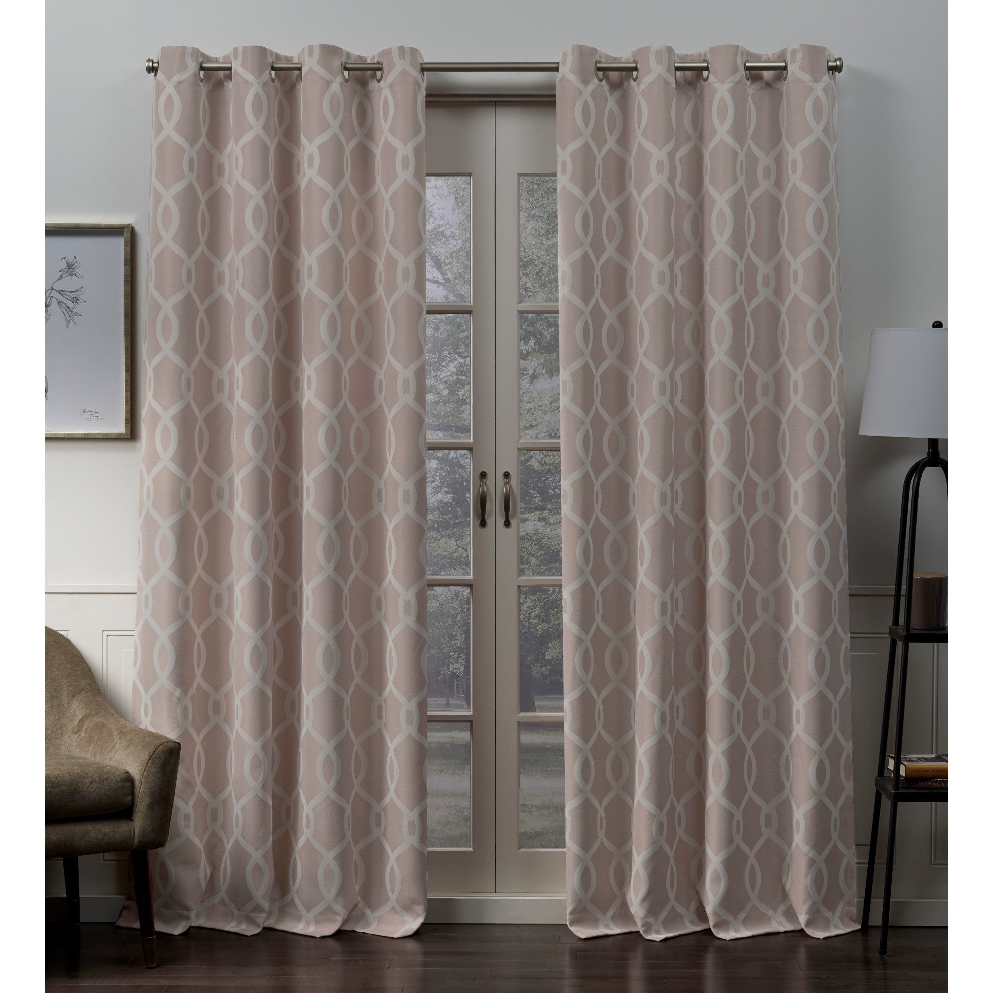 Ati Home Trilogi Woven Blackout Grommet Top Curtain Panel Pair For Keyes Blackout Single Curtain Panels (View 7 of 20)