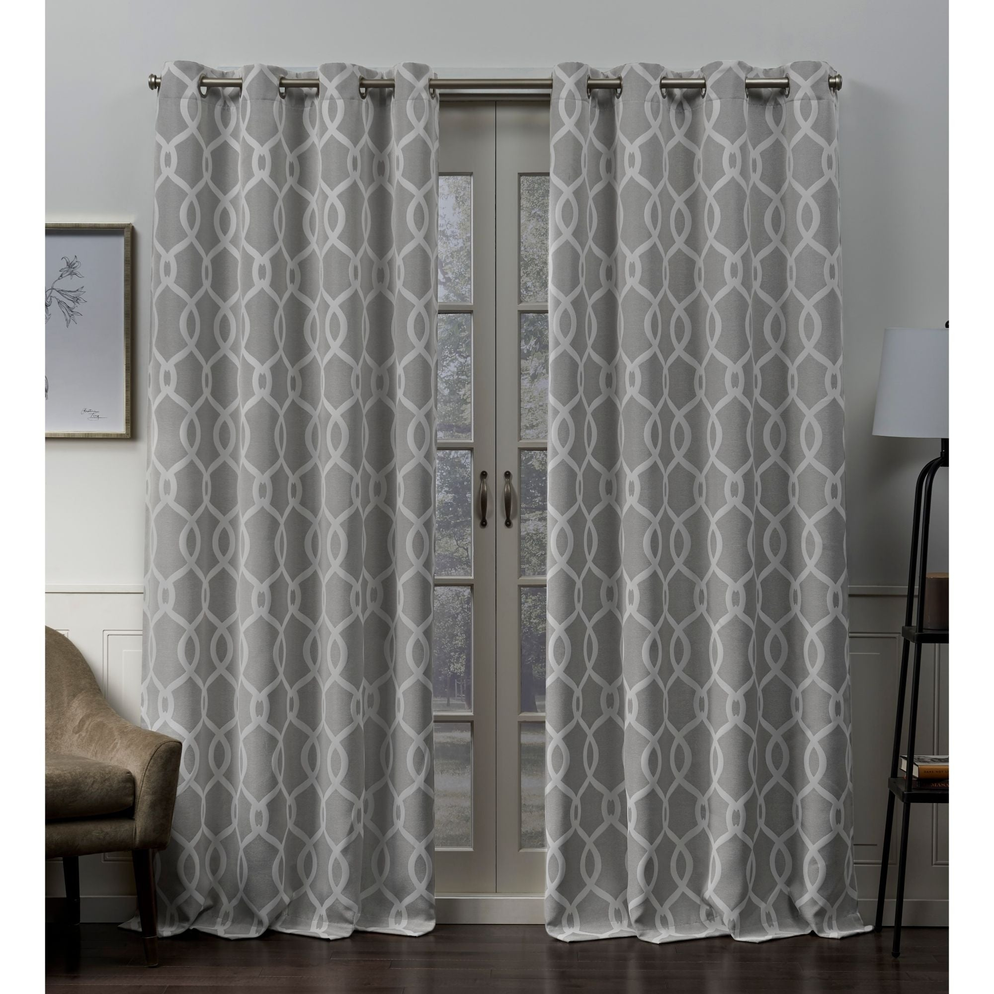 Featured Photo of Woven Blackout Grommet Top Curtain Panel Pairs