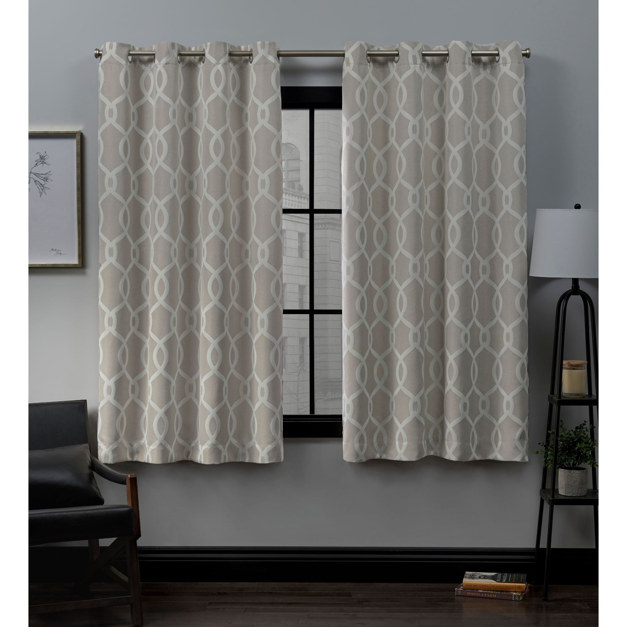 Ati Home Trilogi Woven Blackout Grommet Top Curtain Panel Pair Inside Forest Hill Woven Blackout Grommet Top Curtain Panel Pairs (View 4 of 20)