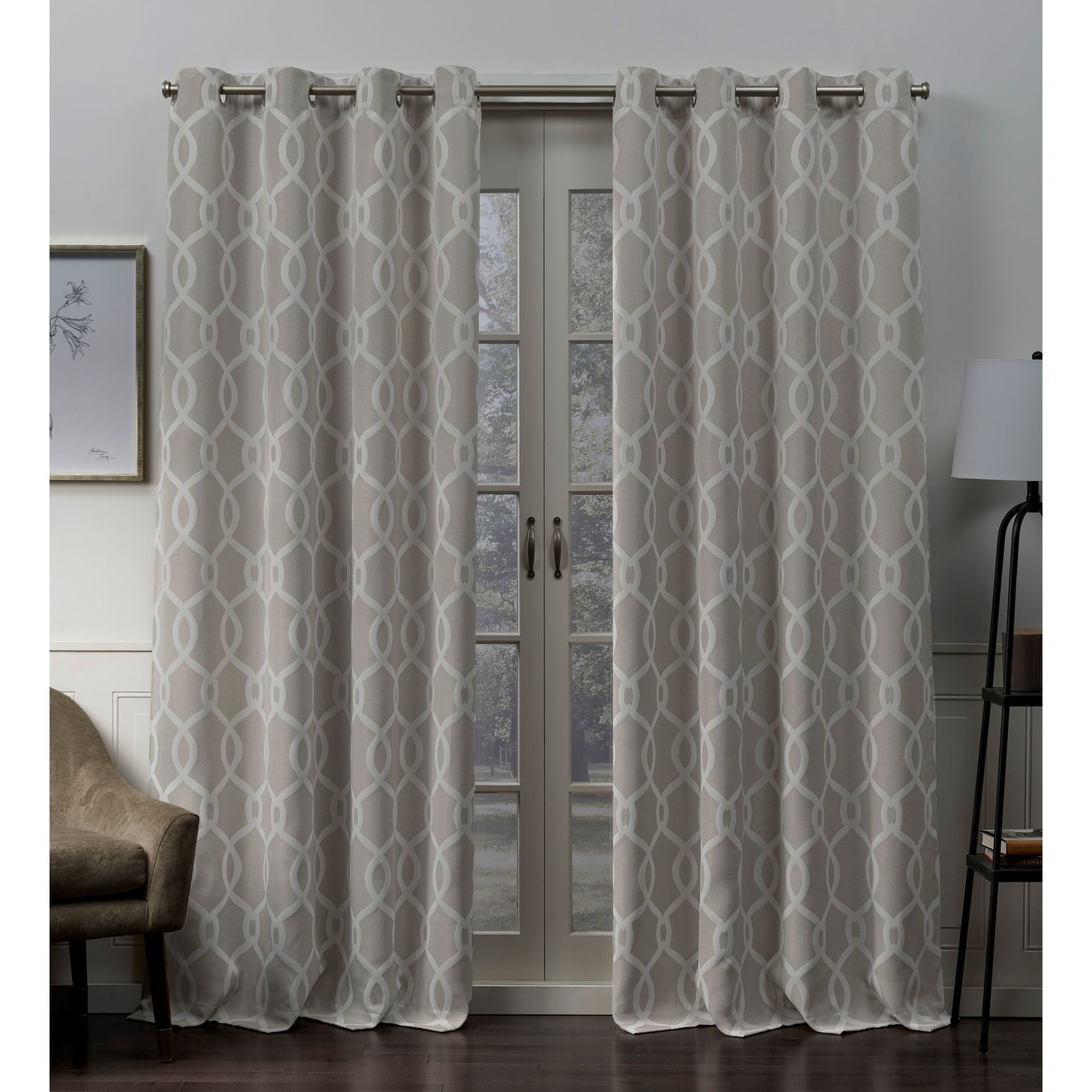 Ati Home Trilogi Woven Blackout Grommet Top Curtain Panel Pair Pertaining To Easton Thermal Woven Blackout Grommet Top Curtain Panel Pairs (View 5 of 20)