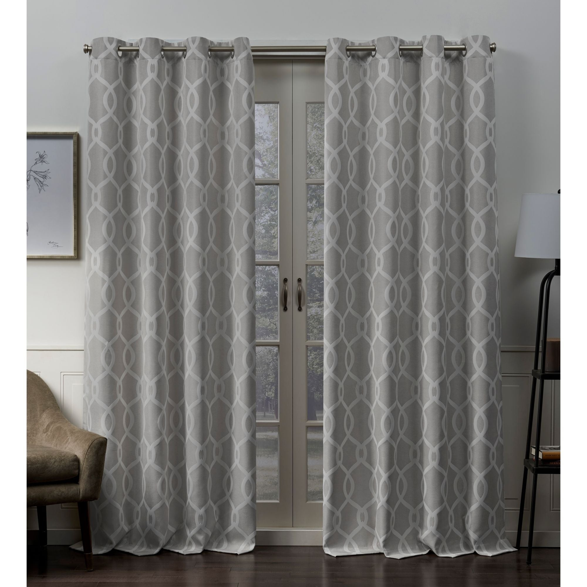 Ati Home Trilogi Woven Blackout Grommet Top Curtain Panel Pair Within Woven Blackout Curtain Panel Pairs With Grommet Top (View 9 of 30)